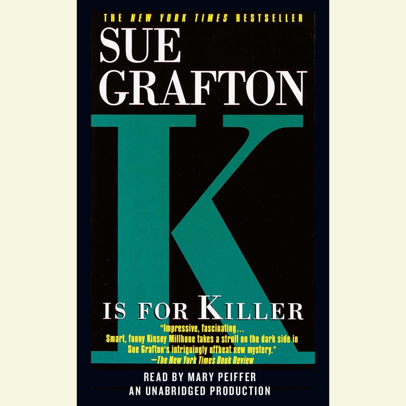 Printable K Is for Killer Audiobook Cover Art
