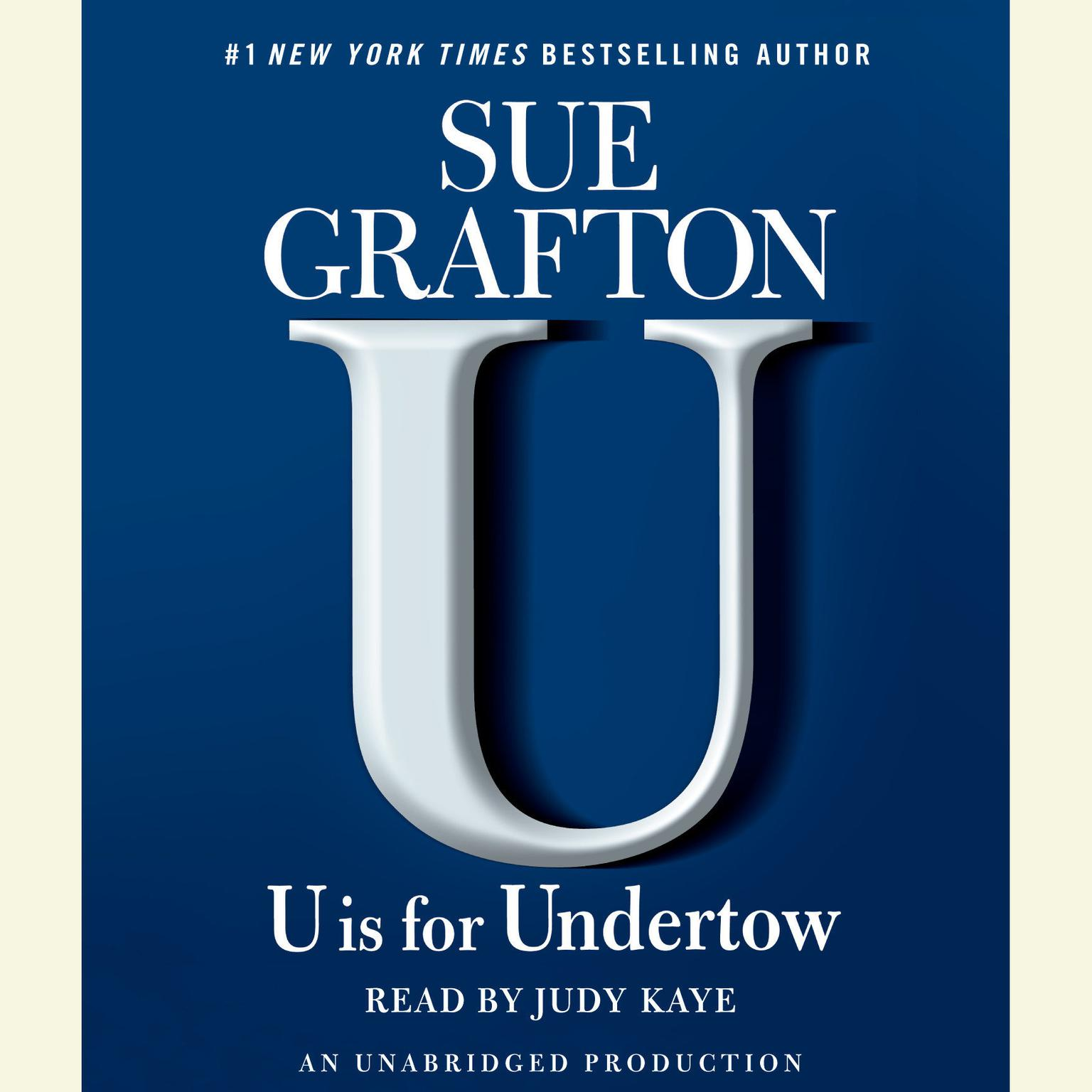 Printable U is for Undertow Audiobook Cover Art