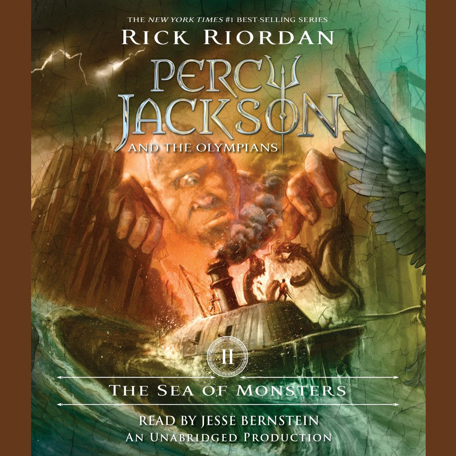 Printable The Sea of Monsters: Percy Jackson and the Olympians: Book 2 Audiobook Cover Art