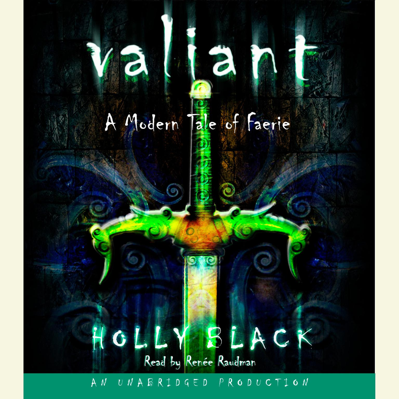 Printable Valiant: A Modern Tale of Faerie Audiobook Cover Art
