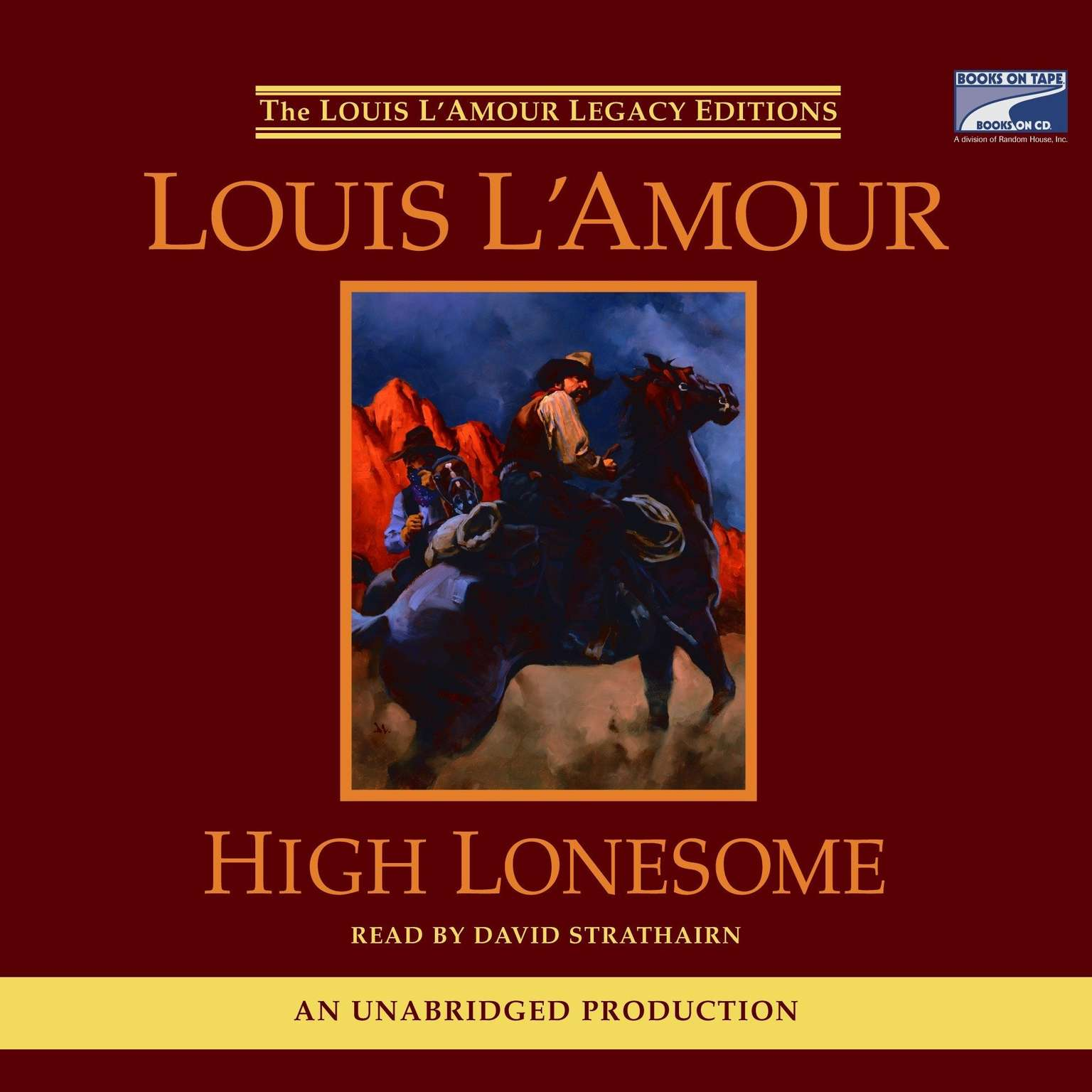 Printable High Lonesome Audiobook Cover Art