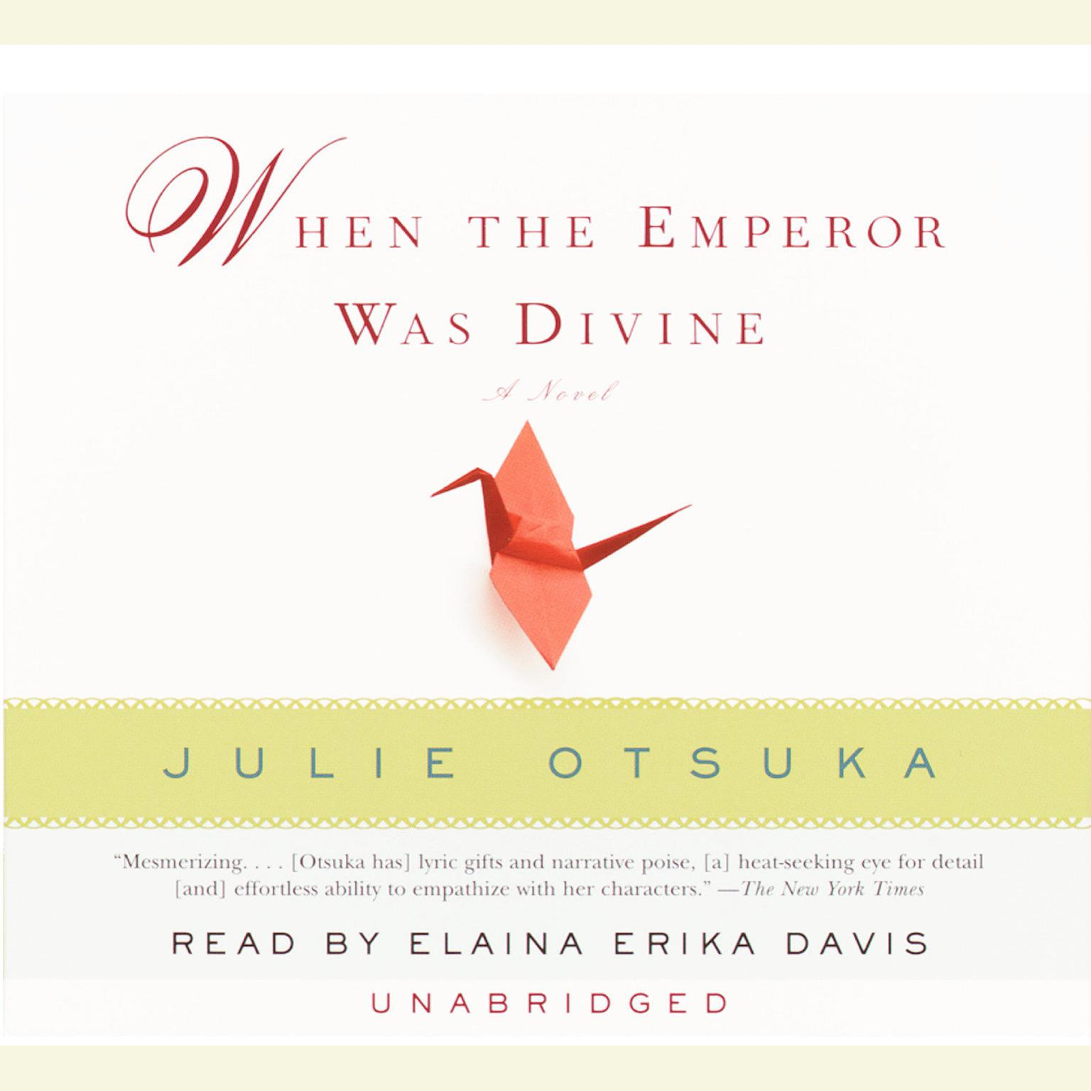 Printable When the Emperor Was Divine Audiobook Cover Art