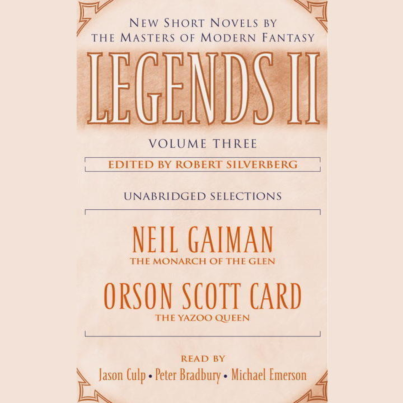 Printable Legends II, Vol. 3: New Short Novels by the Masters of Modern Fantasy Audiobook Cover Art