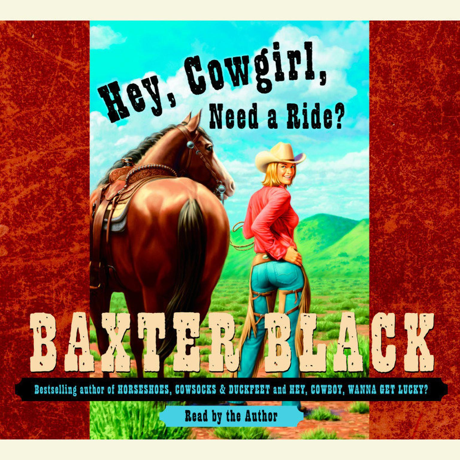 Printable Hey, Cowgirl, Need a Ride? Audiobook Cover Art