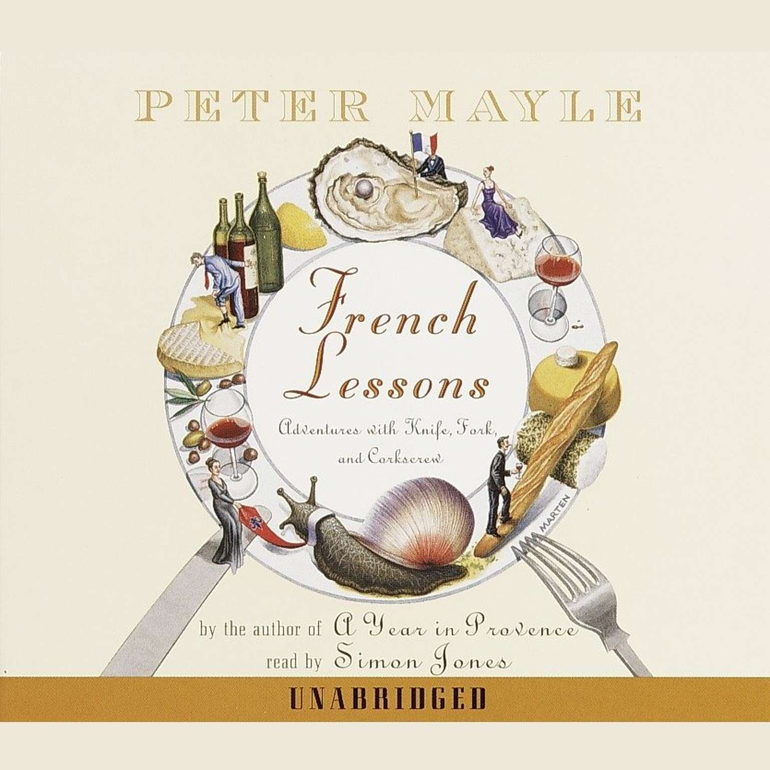 Printable French Lessons: Adventures with Knife, Fork and Corkscrew Audiobook Cover Art