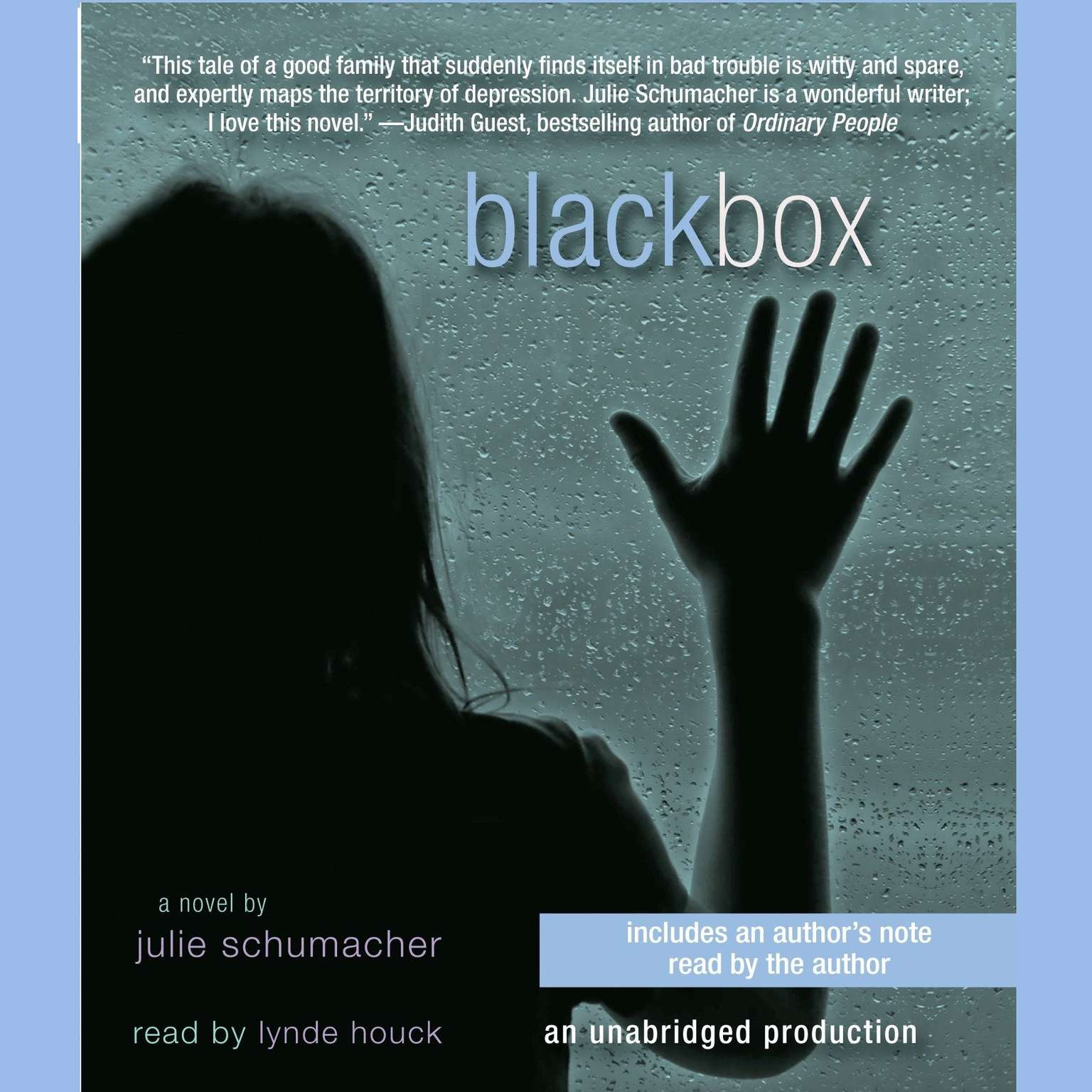 Printable Black Box Audiobook Cover Art