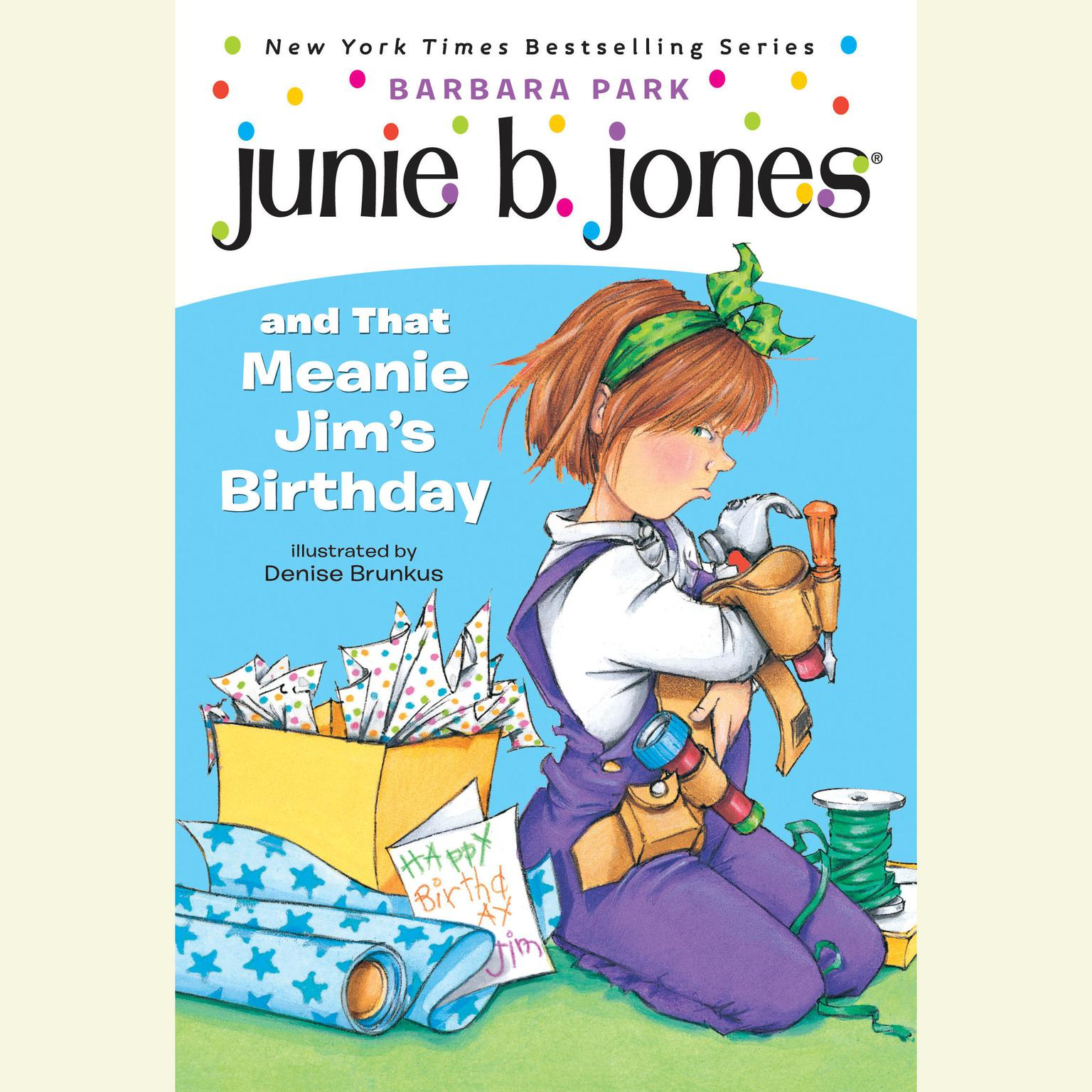 Printable Junie B.Jones and That Meanie Jim's Birthday Audiobook Cover Art