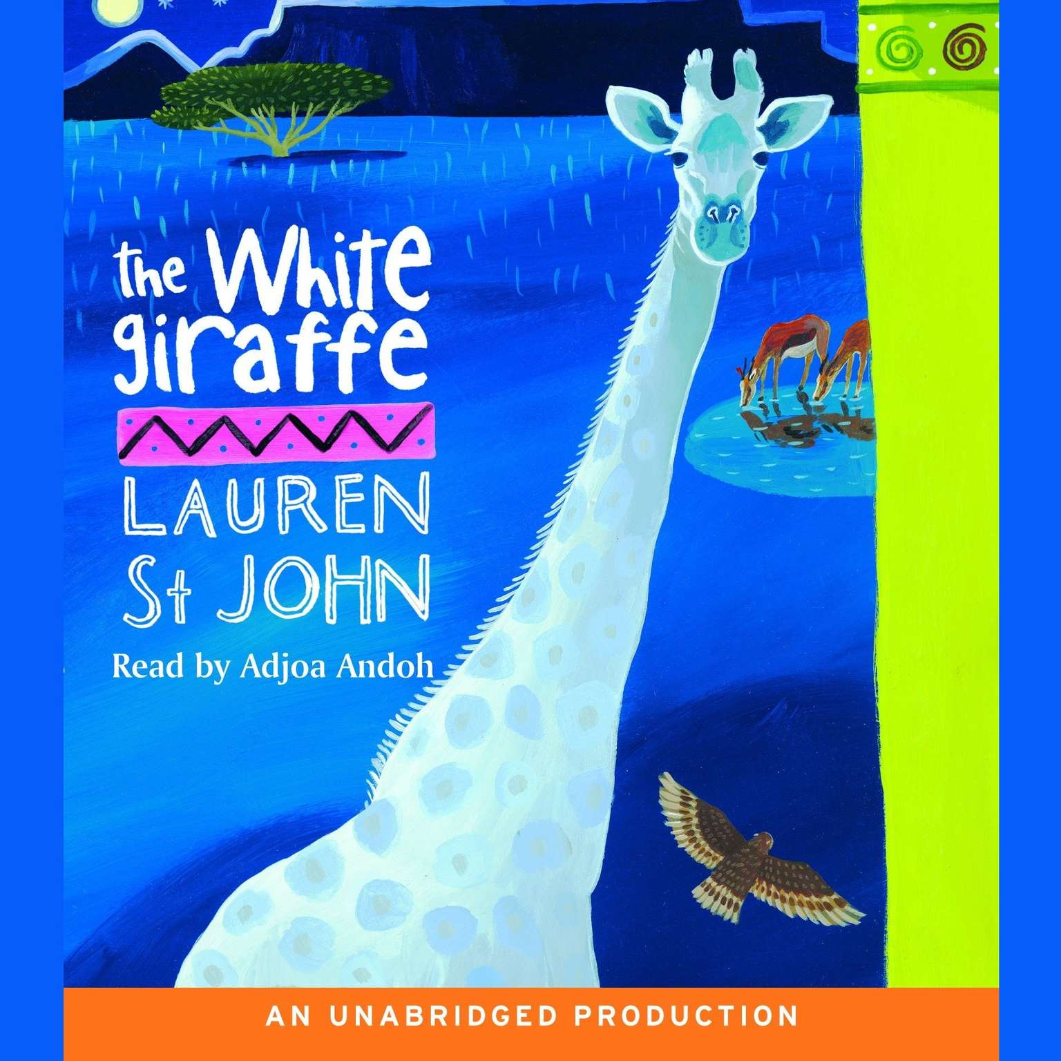 Printable The White Giraffe Audiobook Cover Art