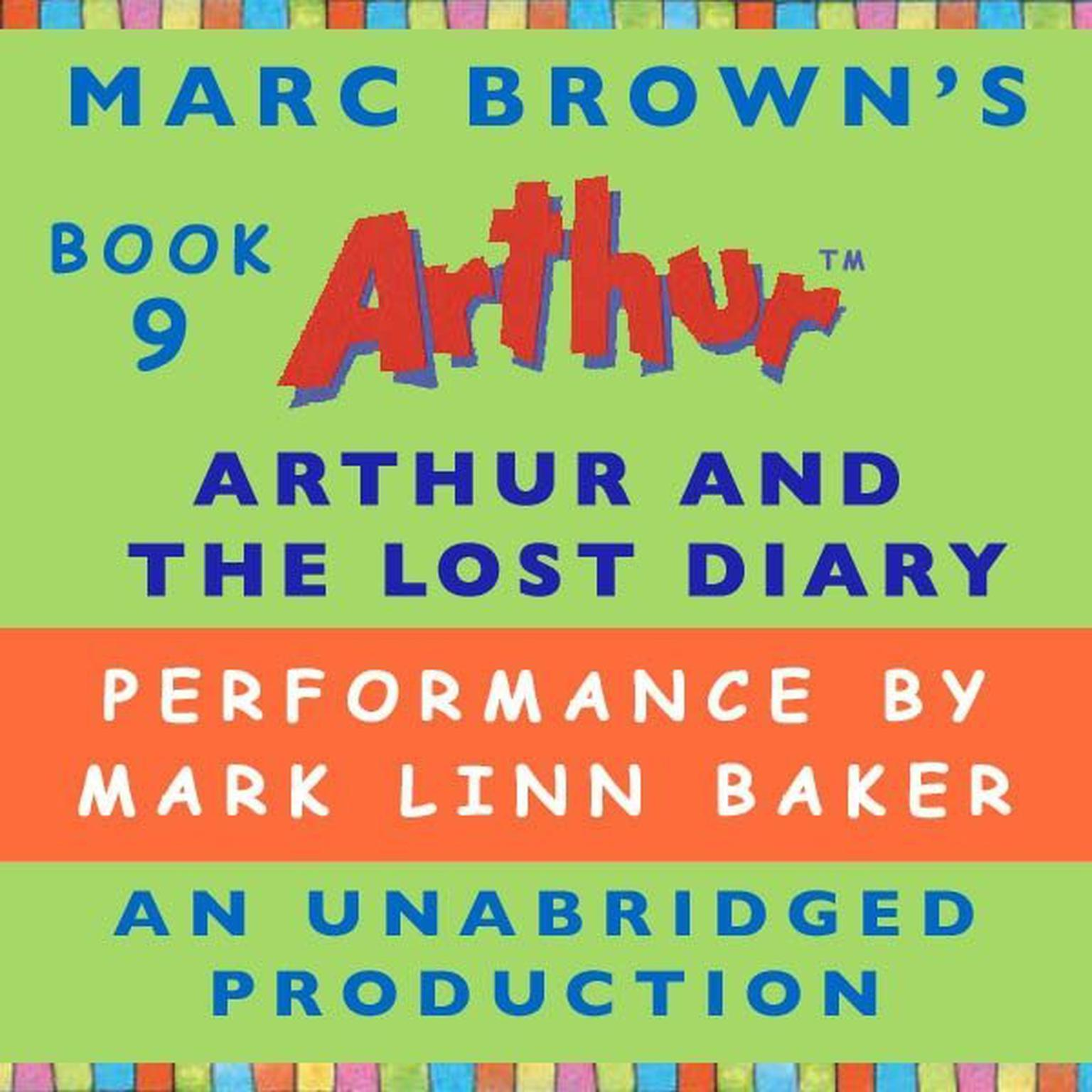 Printable Arthur and the Lost Diary: A Marc Brown Arthur Chapter Book #9 Audiobook Cover Art