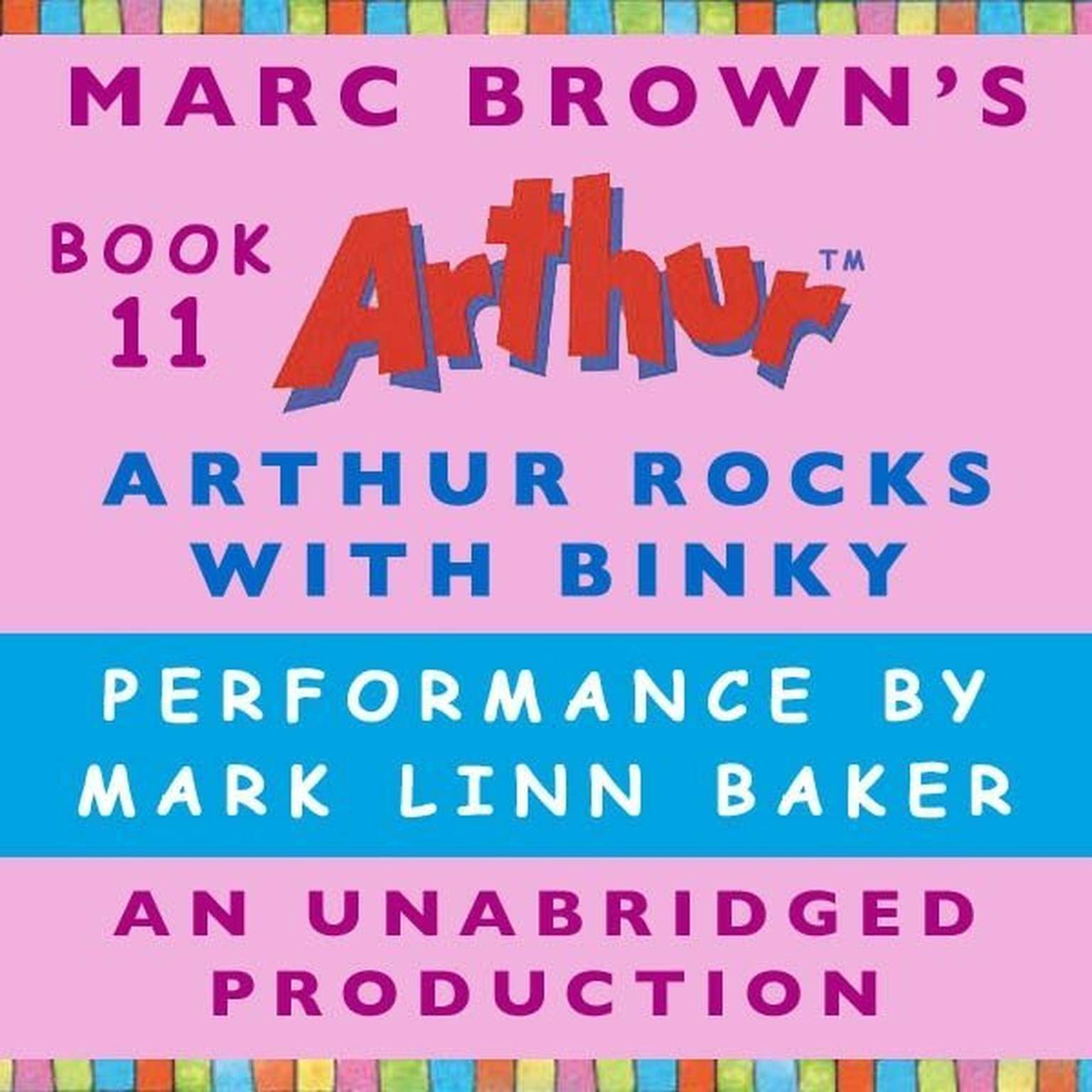 Printable Arthur Rocks with Binky Audiobook Cover Art