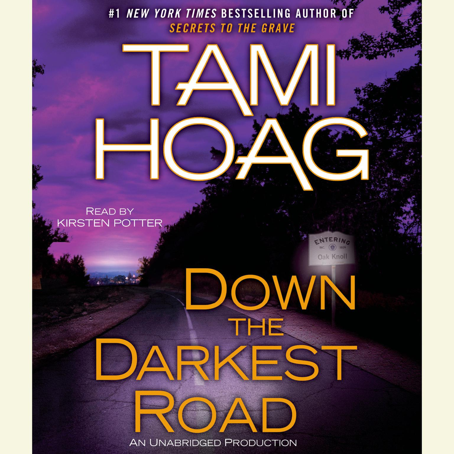 Printable Down the Darkest Road Audiobook Cover Art