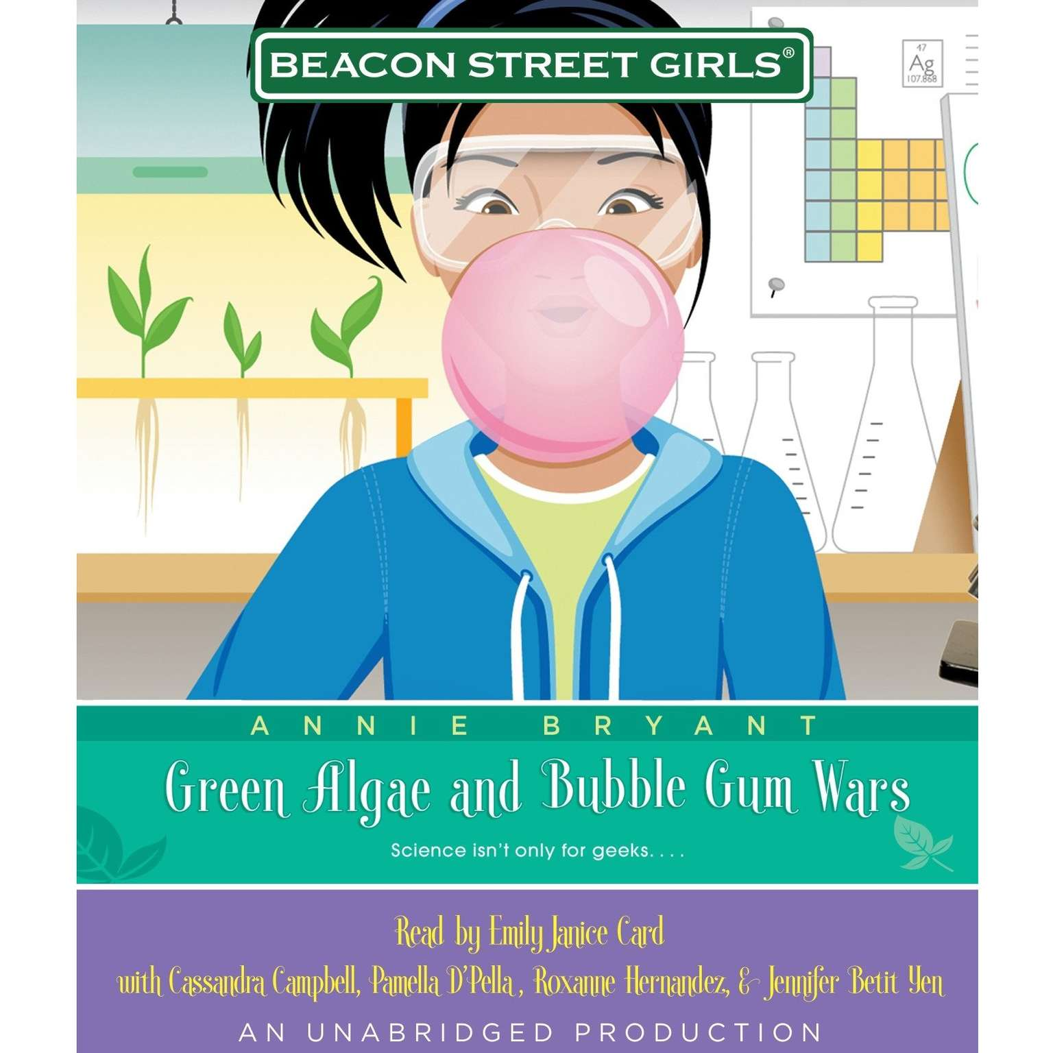 Printable Beacon Street Girls #13: Green Algae and Bubblegum Wars Audiobook Cover Art