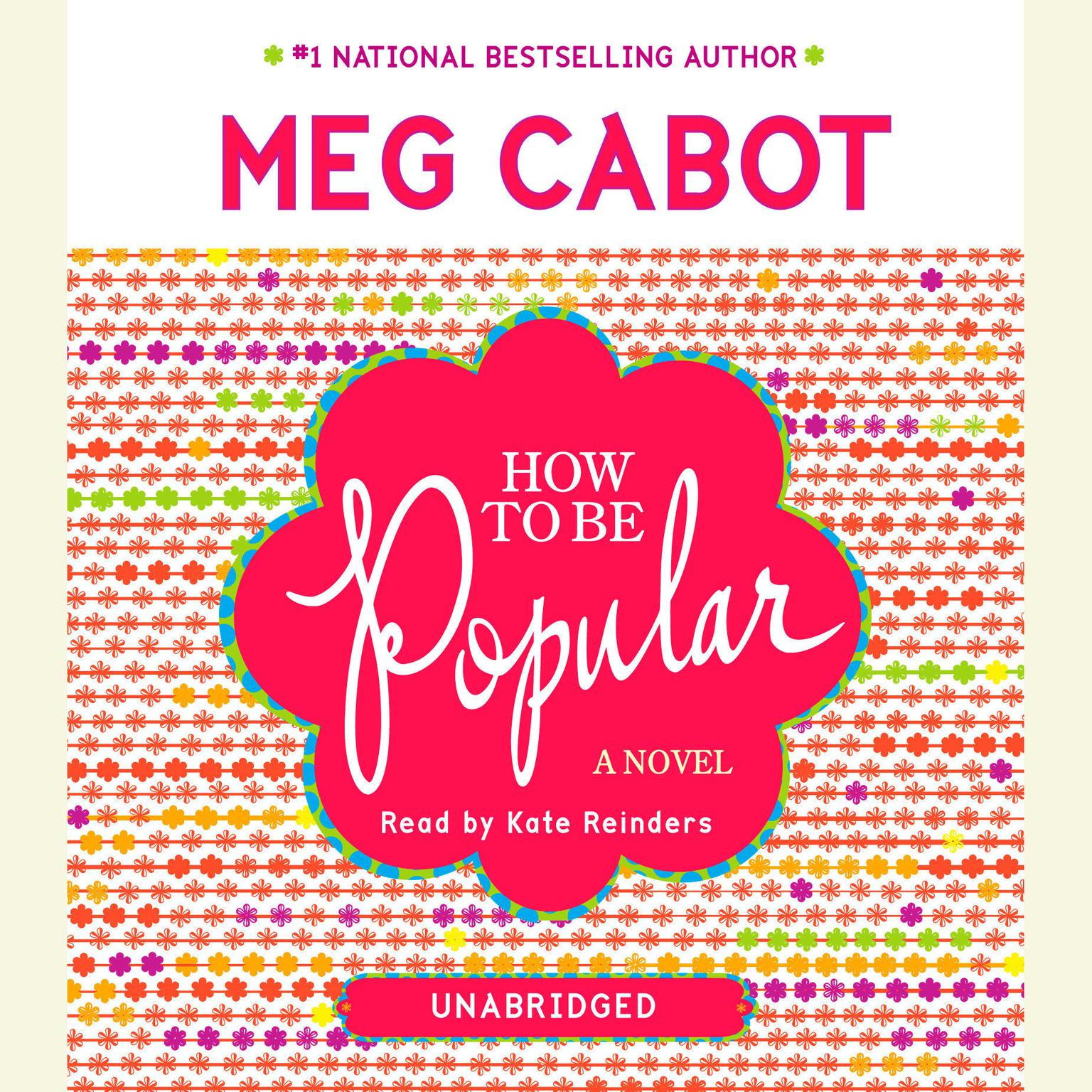 Printable How to Be Popular Audiobook Cover Art