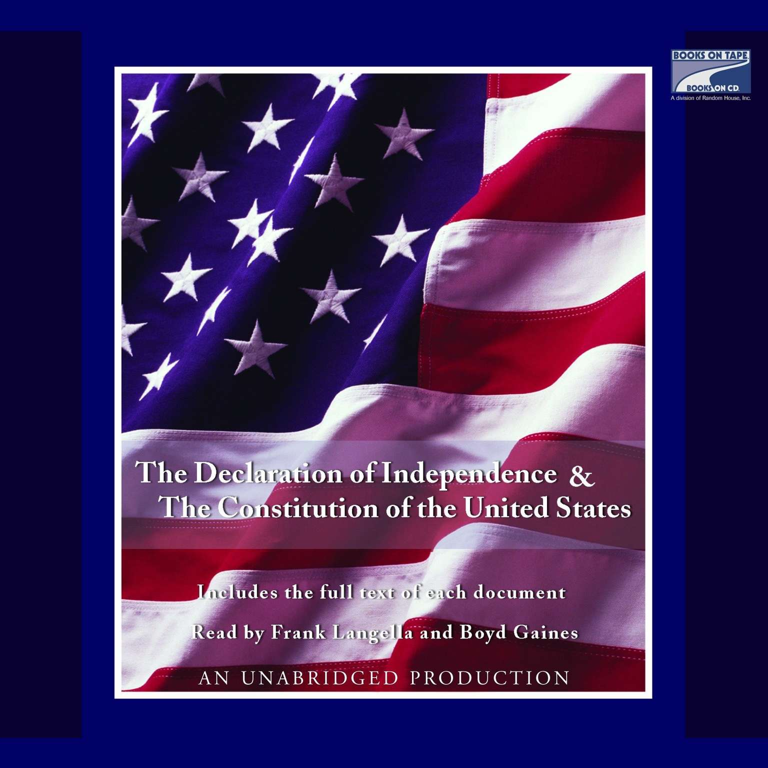 Printable The Declaration of Independence and the Constitution of the United States Audiobook Cover Art