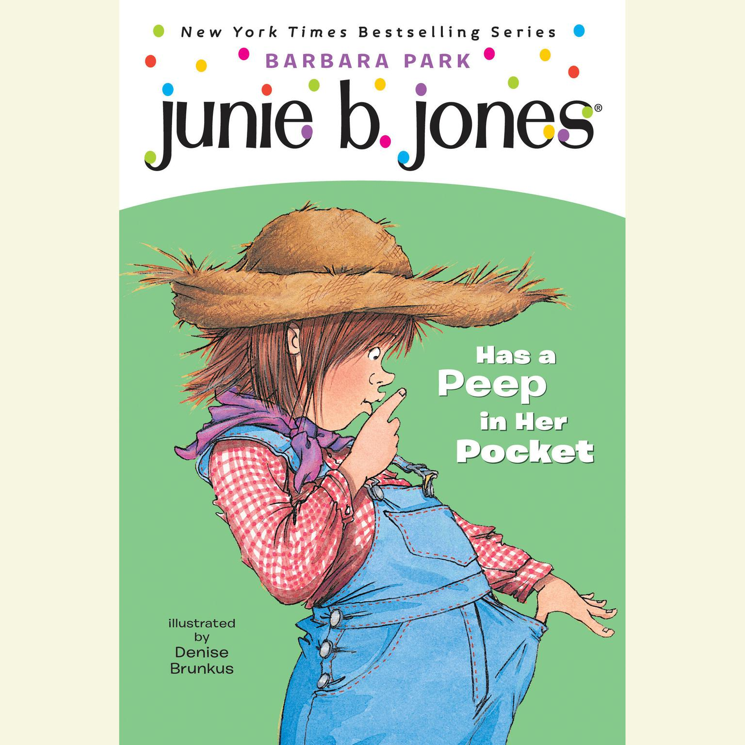 Printable Junie B. Jones Has a Peep in Her Pocket Audiobook Cover Art