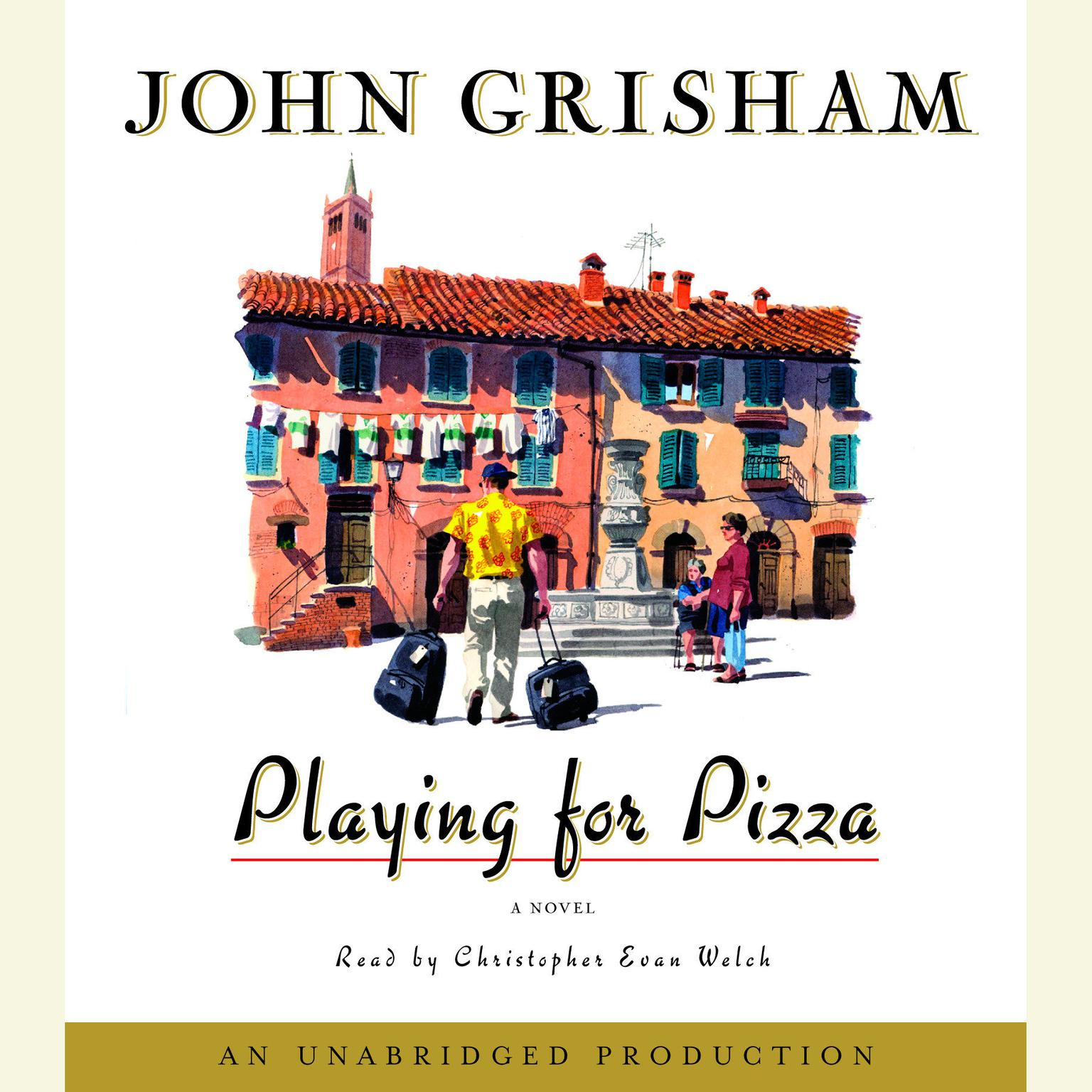 Printable Playing for Pizza: A Novel Audiobook Cover Art