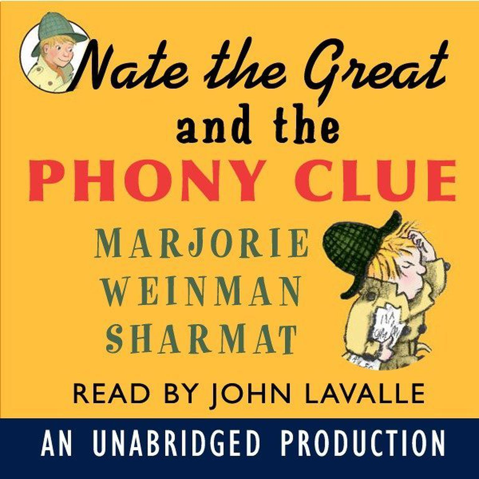 Printable Nate the Great and the Phony Clue Audiobook Cover Art