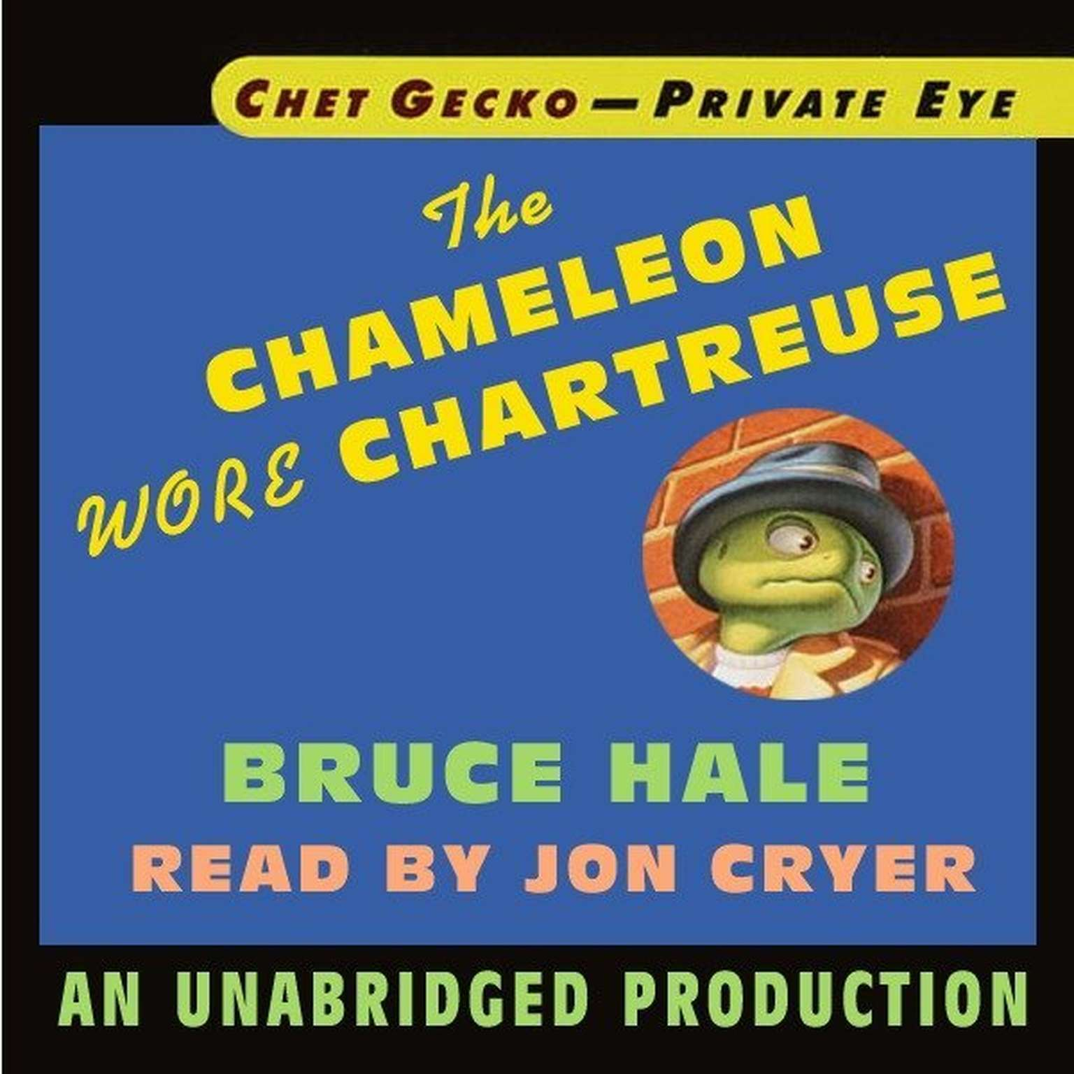 Printable Chet Gecko, Private Eye, Book 1: The Chameleon Wore Chartreuse Audiobook Cover Art