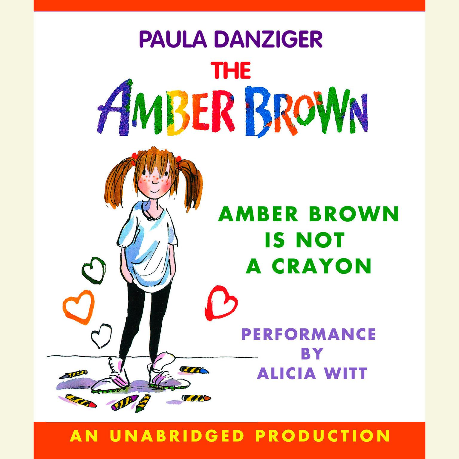 Printable Amber Brown Is Not a Crayon Audiobook Cover Art