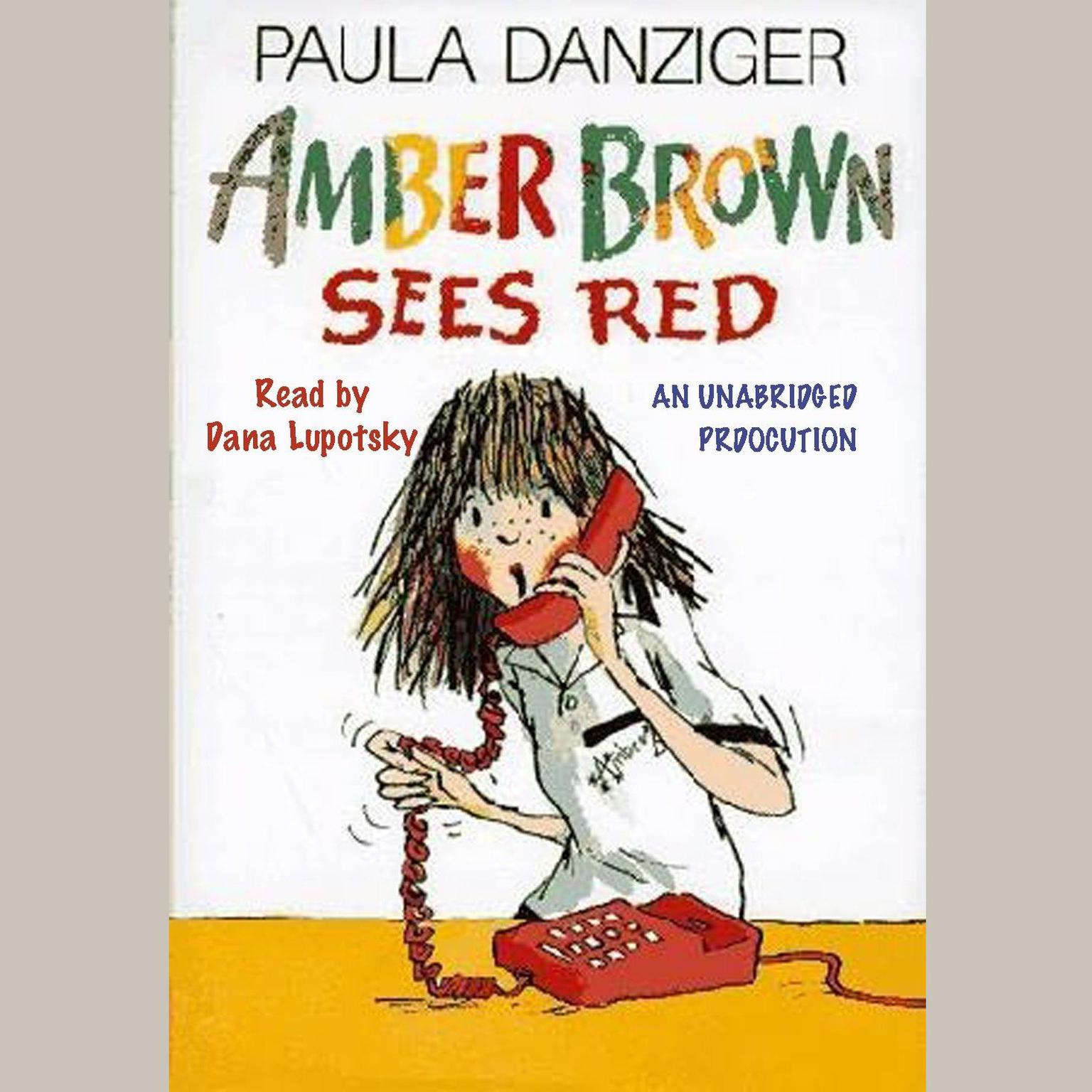 Printable Amber Brown Sees Red Audiobook Cover Art