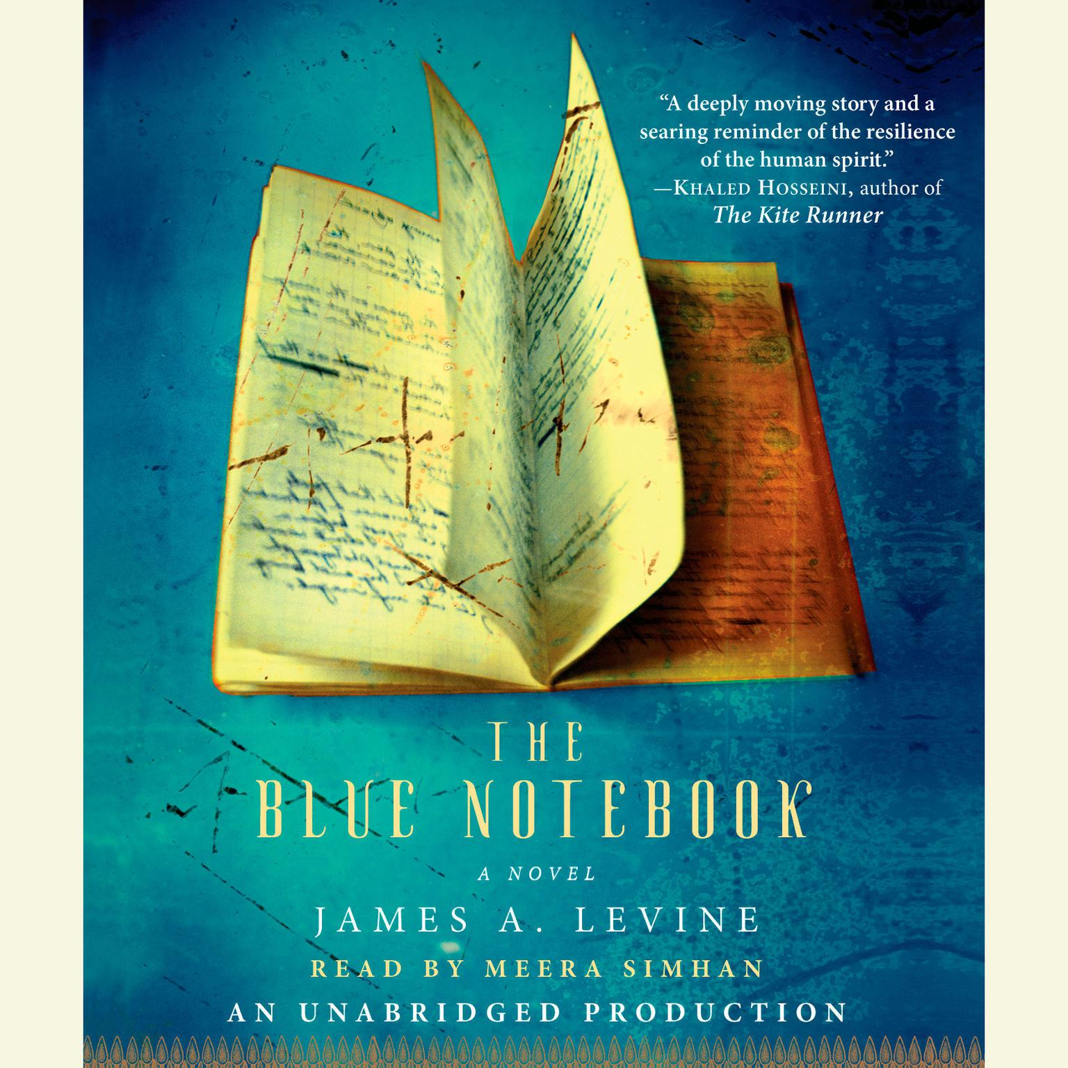 Printable The Blue Notebook: A Novel Audiobook Cover Art