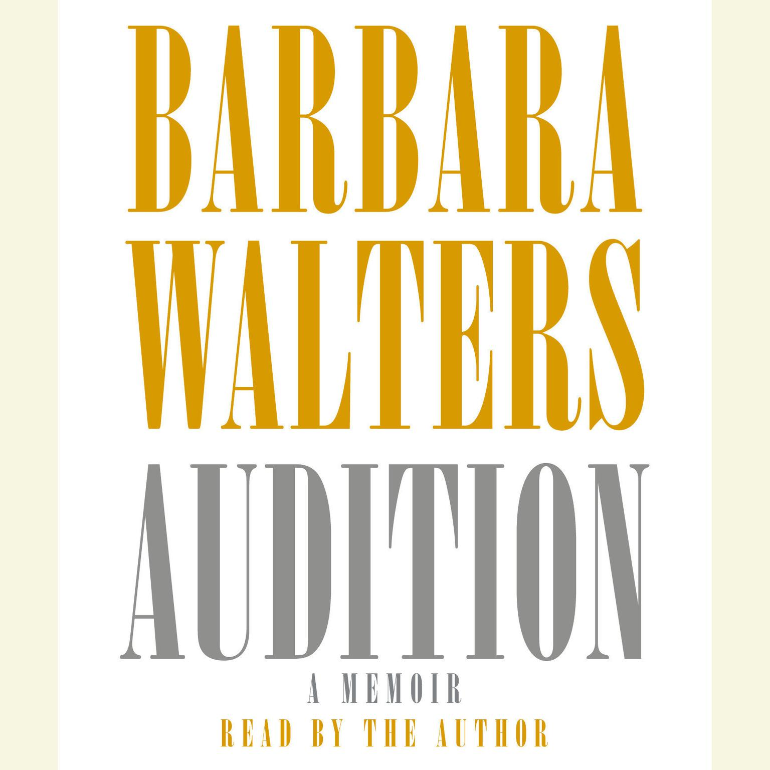 Printable Audition: A Memoir Audiobook Cover Art