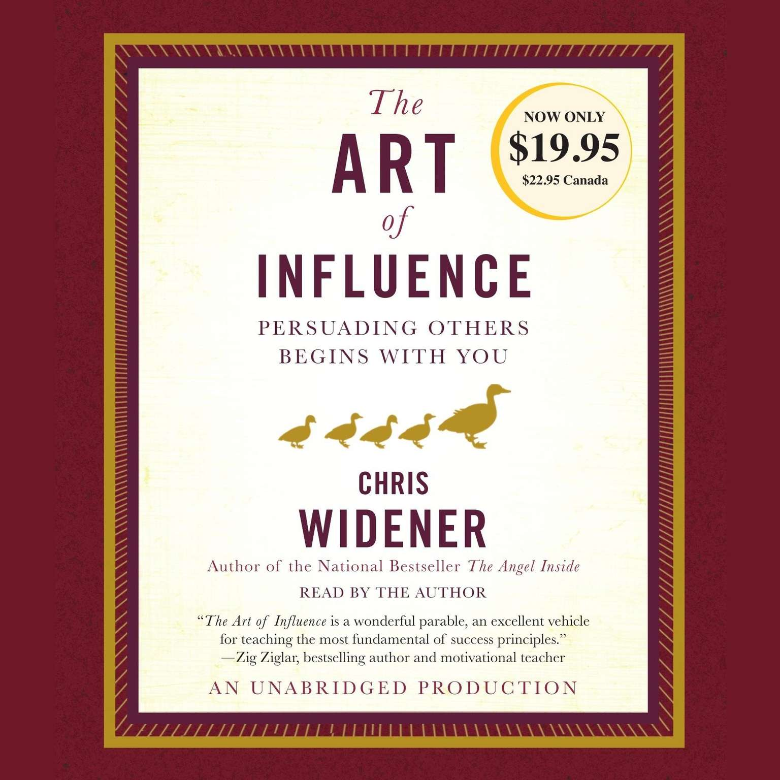 Printable The Art of Influence: Persuading Others Begins with You Audiobook Cover Art
