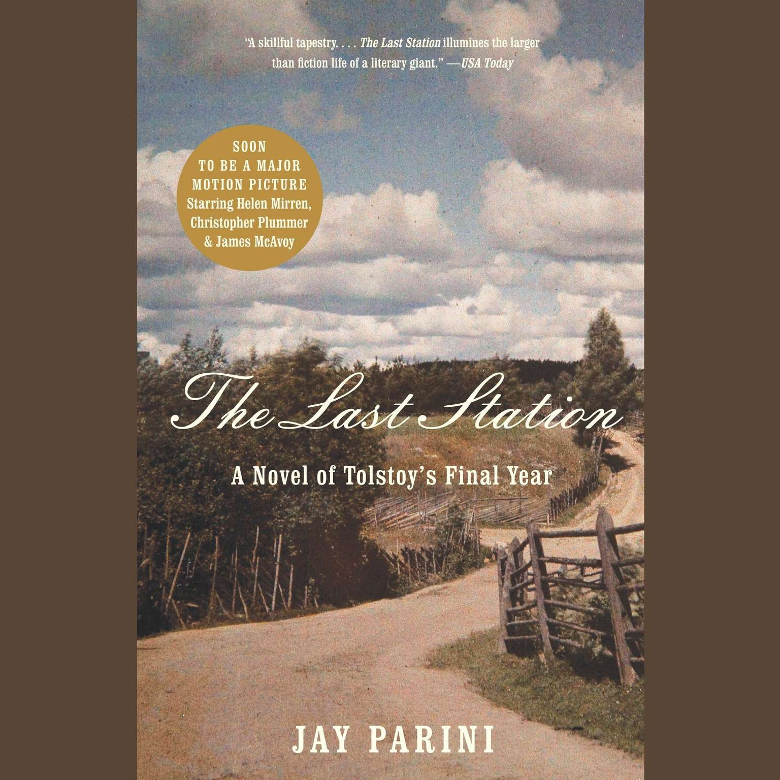 Printable The Last Station: A Novel of Tolstoy's Last Year Audiobook Cover Art