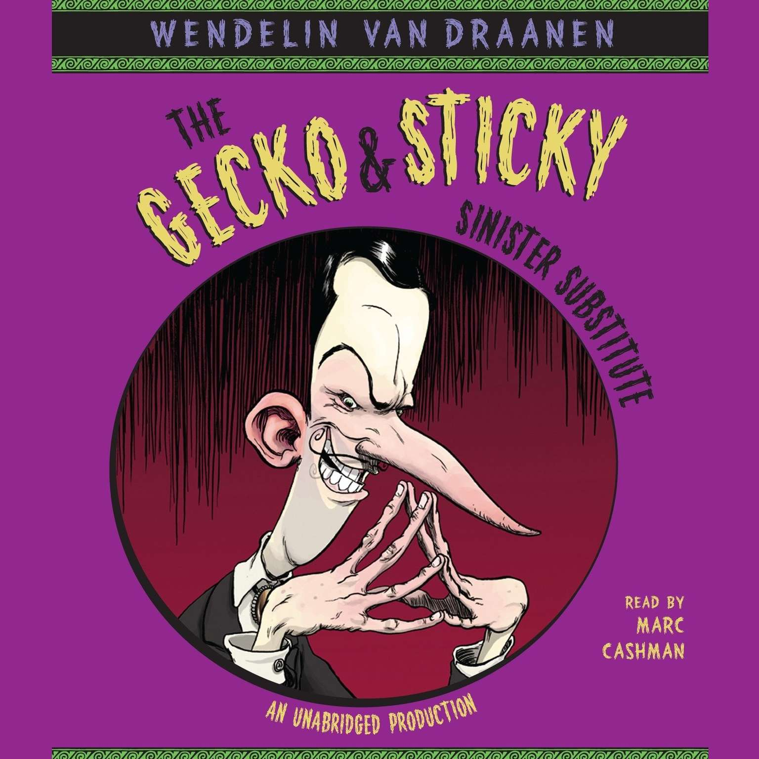 Printable The Gecko and Sticky: Sinister Substitute Audiobook Cover Art