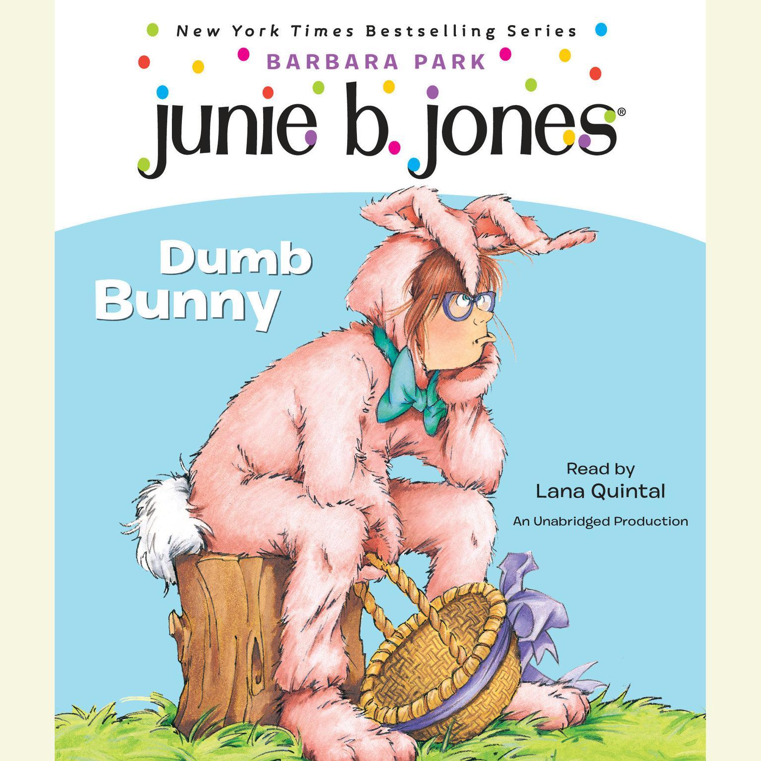 Printable Junie B. Jones #27: Dumb Bunny: Junie B. Jones #27 Audiobook Cover Art