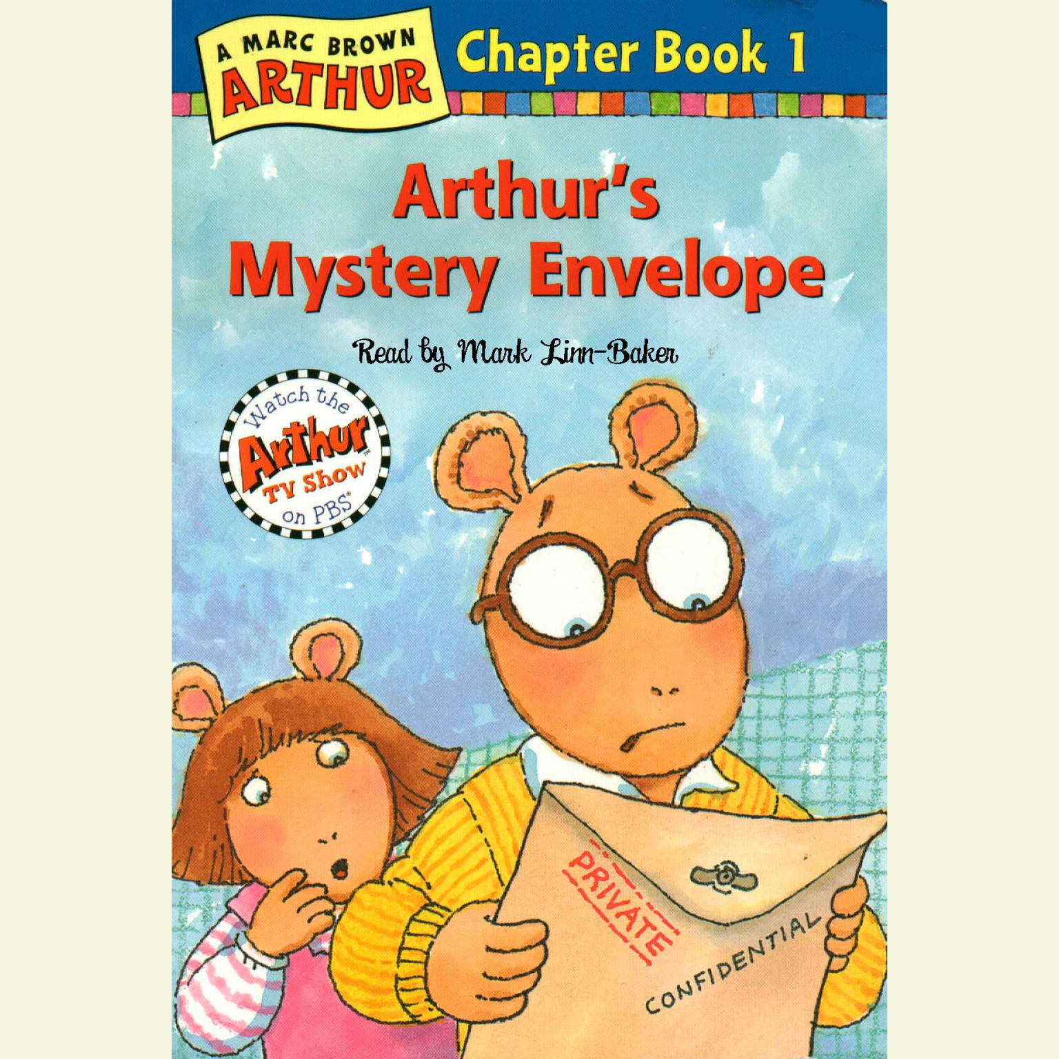 Printable Arthur's Mystery Envelope: A Marc Brown Arthur Chapter Book #1 Audiobook Cover Art