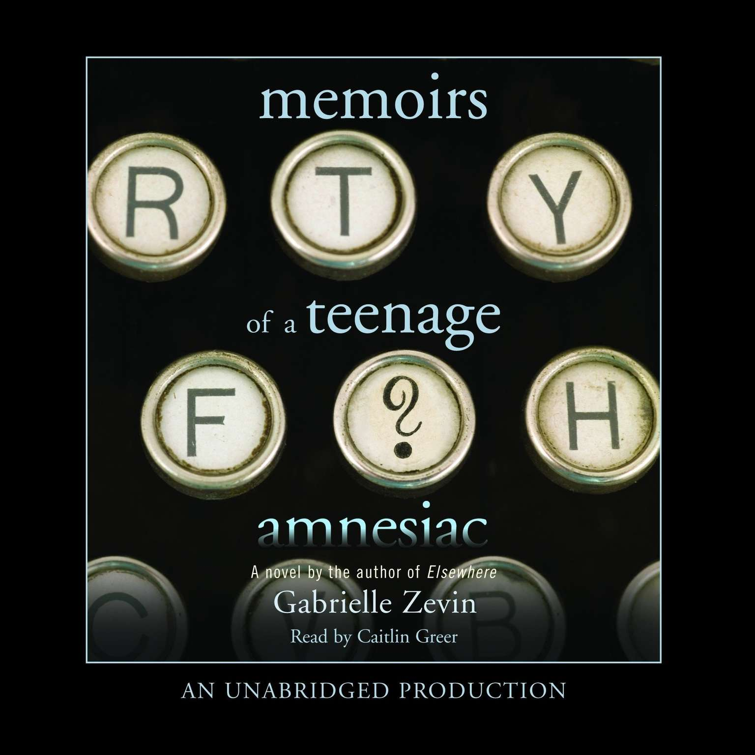 Printable Memoirs of a Teenage Amnesiac Audiobook Cover Art