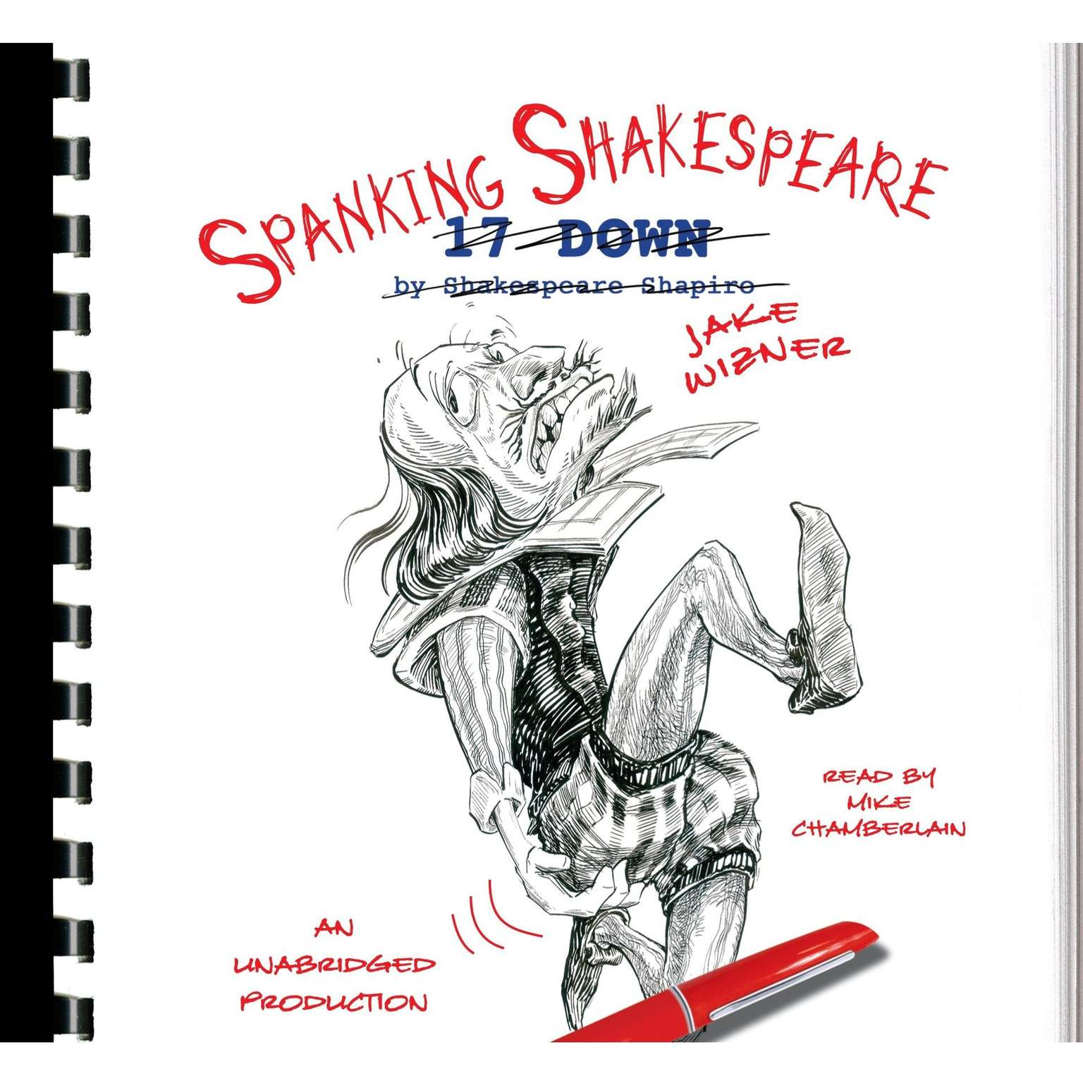 Printable Spanking Shakespeare Audiobook Cover Art
