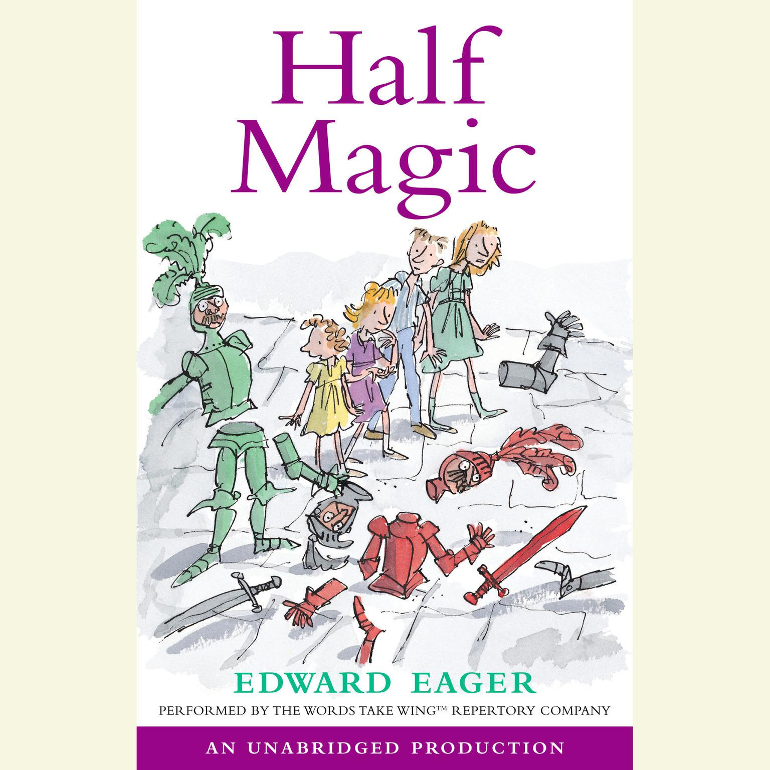Printable Half Magic Audiobook Cover Art