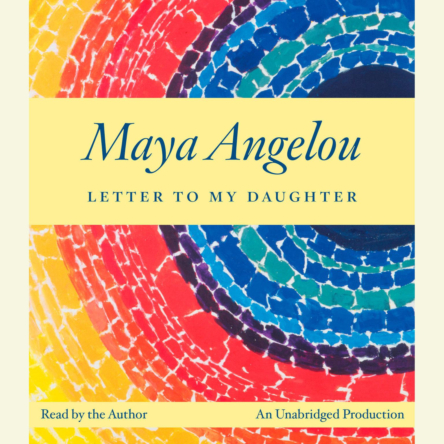 Printable Letter to My Daughter Audiobook Cover Art