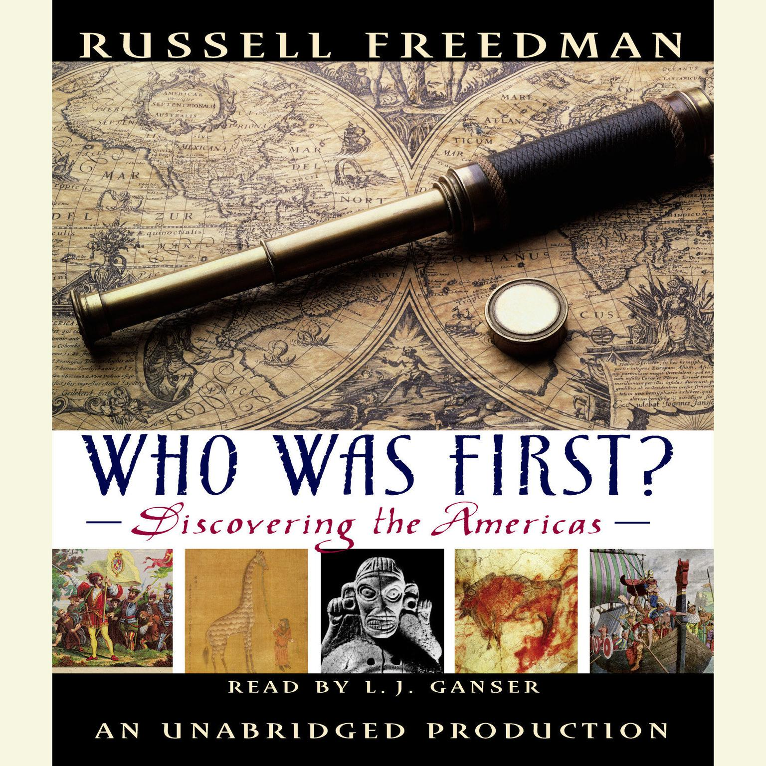 Printable Who Was First?: Discovering the Americas Audiobook Cover Art