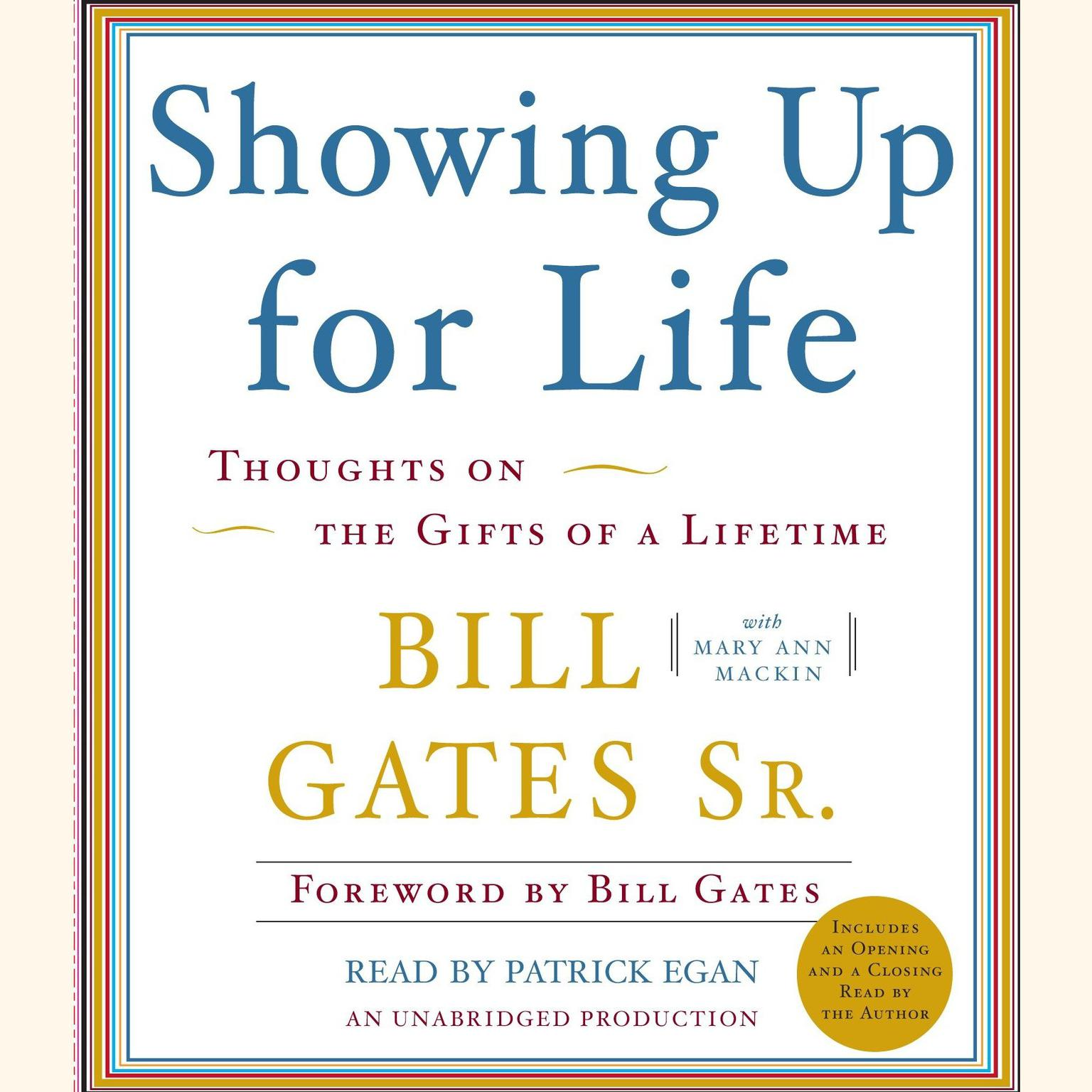 Printable Showing Up for Life: Thoughts on the Gifts of a Lifetime Audiobook Cover Art