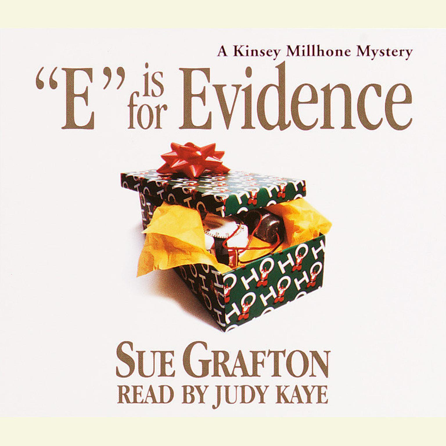 Printable E Is for Evidence Audiobook Cover Art