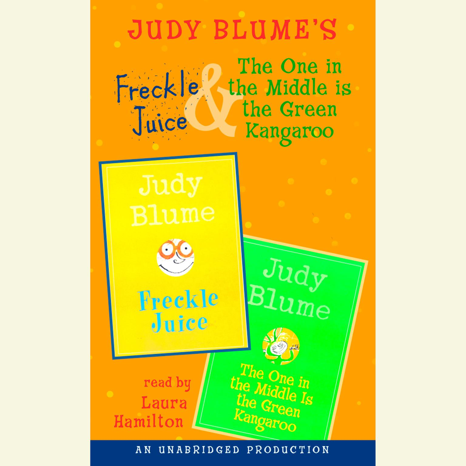 Printable Freckle Juice & The One in the Middle Is the Green Kangaroo Audiobook Cover Art