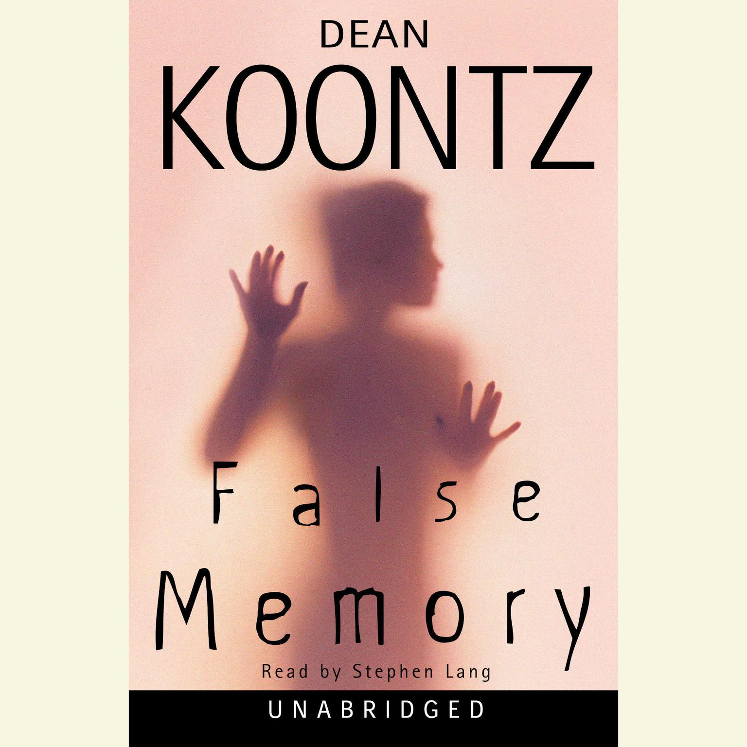 Printable False Memory Audiobook Cover Art