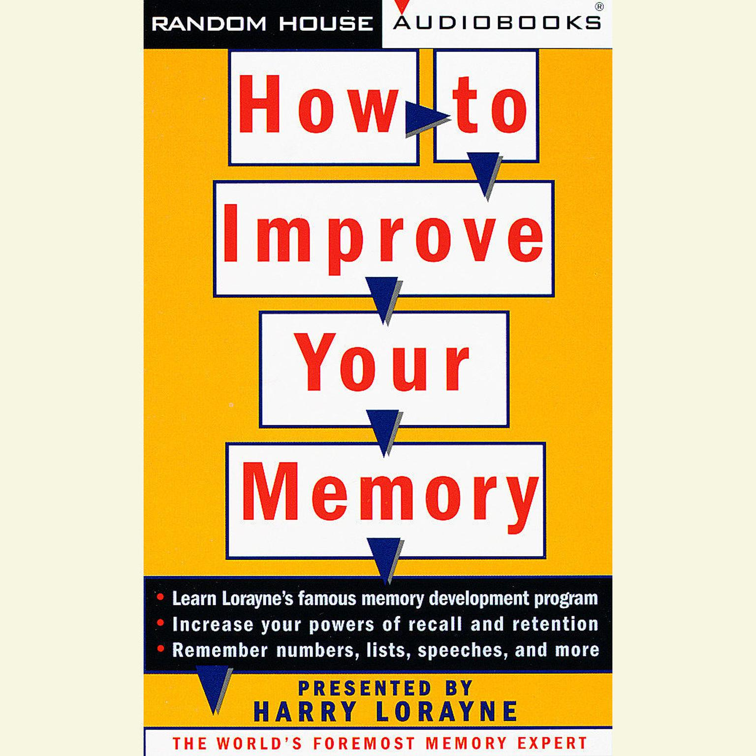 Printable How to Improve Your Memory Audiobook Cover Art
