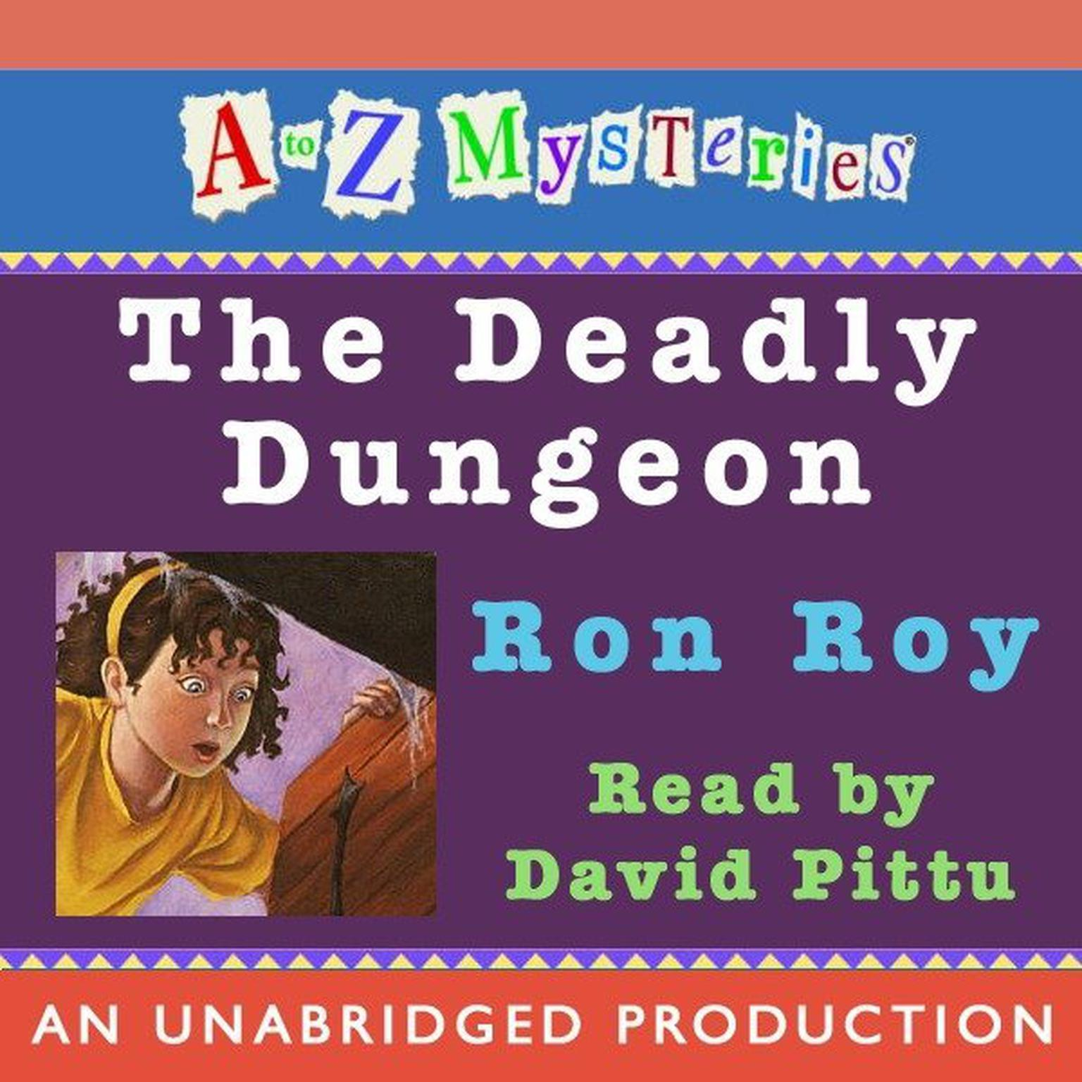 Printable A to Z Mysteries: The Deadly Dungeon Audiobook Cover Art