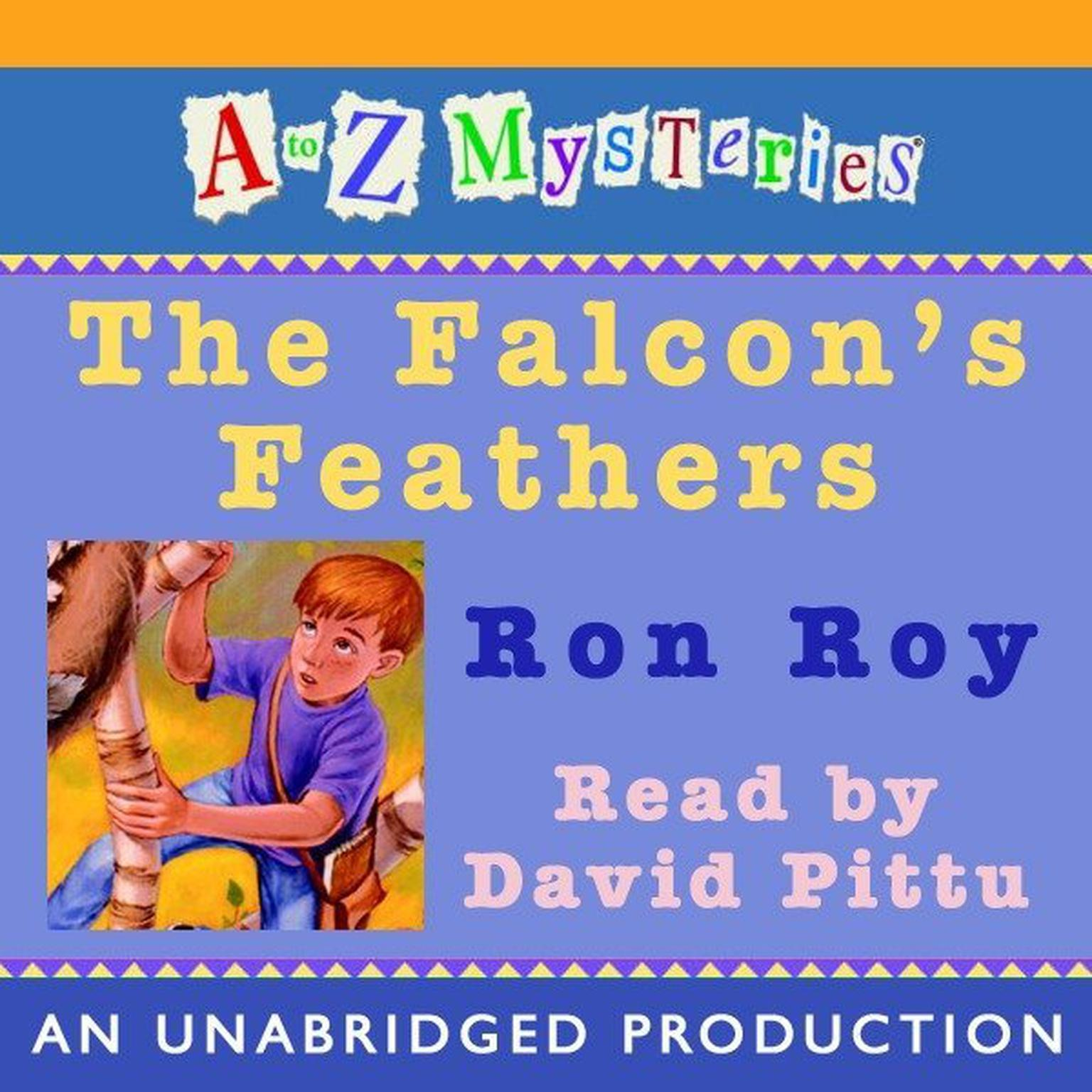 Printable A to Z Mysteries: The Falcon's Feathers Audiobook Cover Art