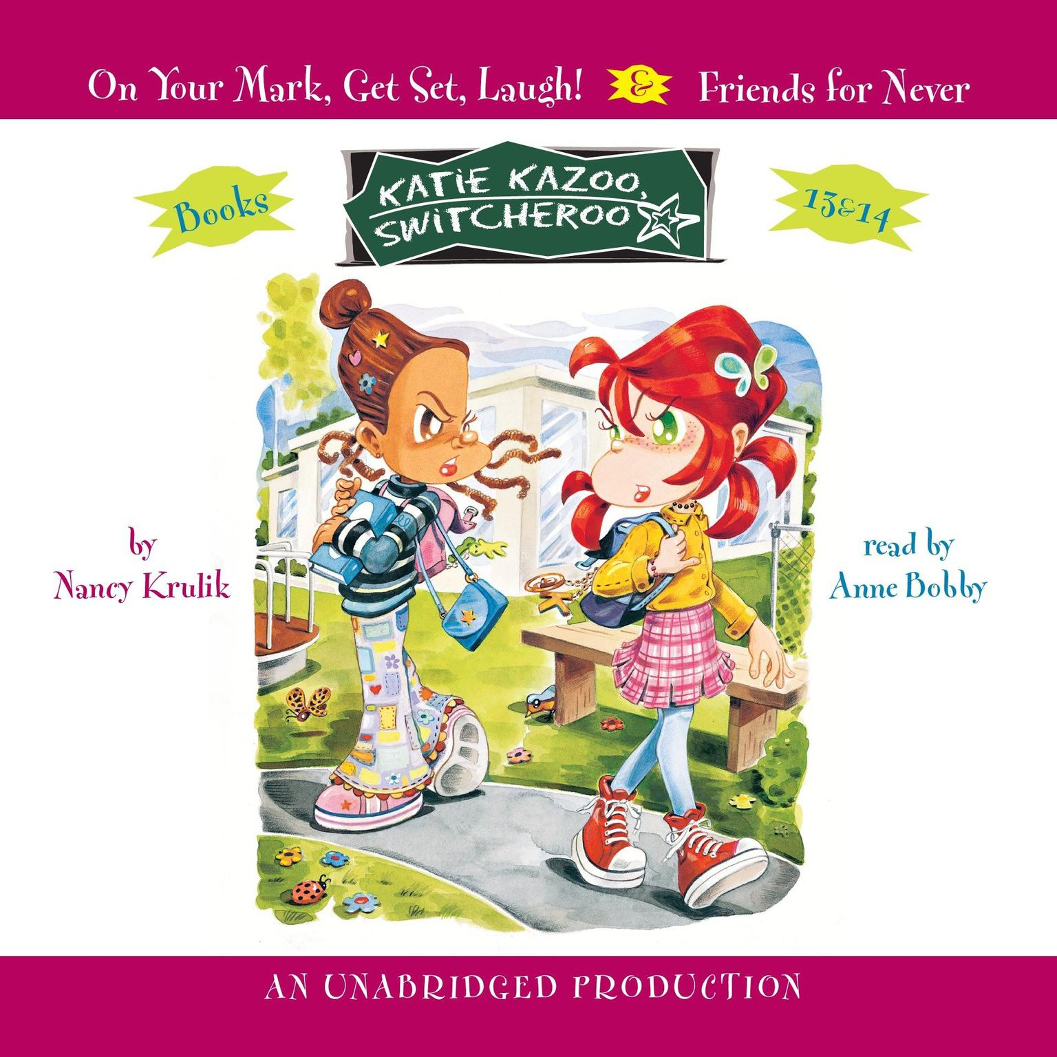Printable Katie Kazoo, Switcheroo #13: On Your Mark, Get Set, Laugh! Audiobook Cover Art