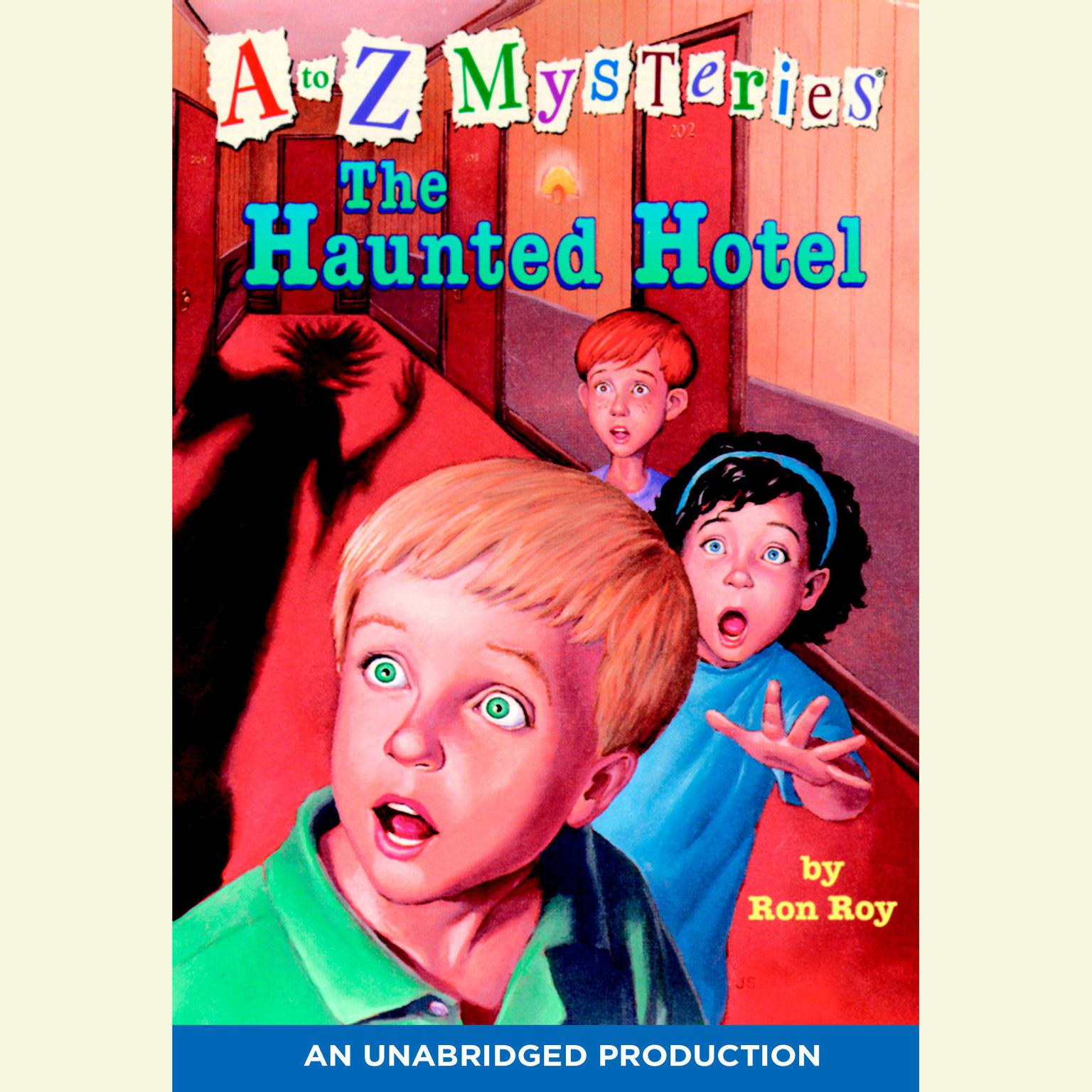 Printable A to Z Mysteries: The Haunted Hotel Audiobook Cover Art