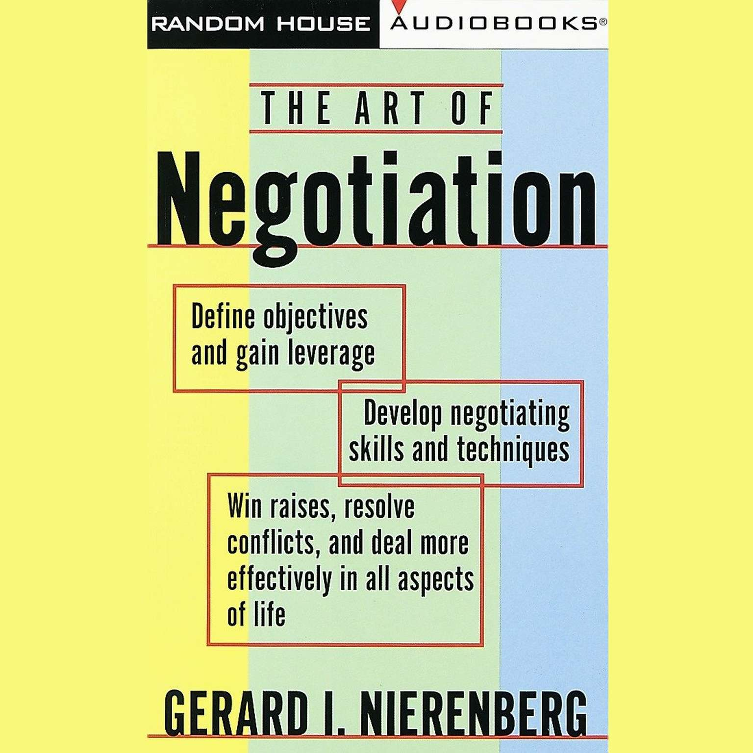 Printable The Art of Negotiation Audiobook Cover Art