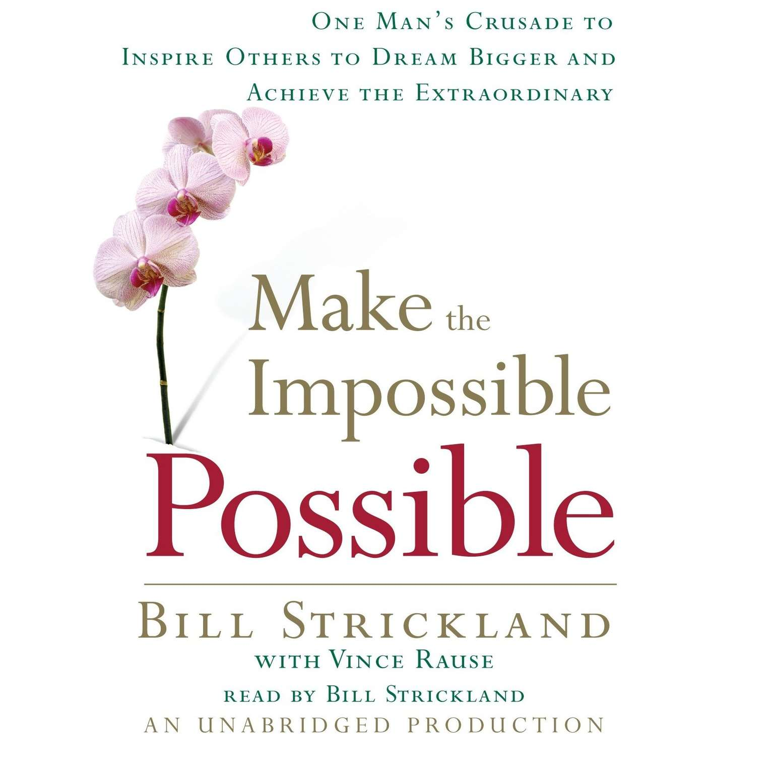 Printable Make the Impossible Possible: One Man's Crusade to Inspire Others to Dream Bigger and Achieve the Extraordinary Audiobook Cover Art
