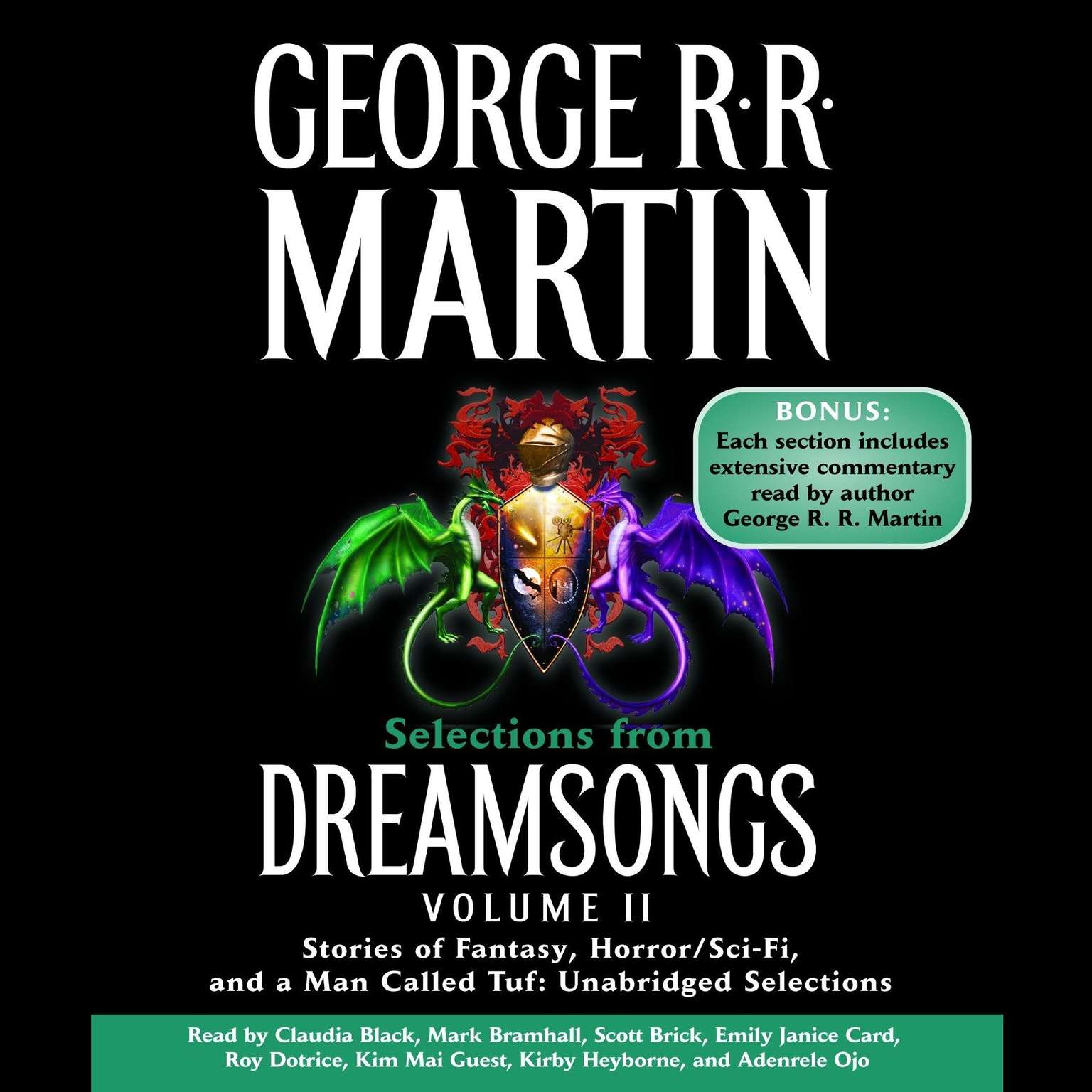 Printable Selections from Dreamsongs, Vol. 2: Stories of Fantasy, Horror/Sci-Fi, and a Man Called Tuf Audiobook Cover Art
