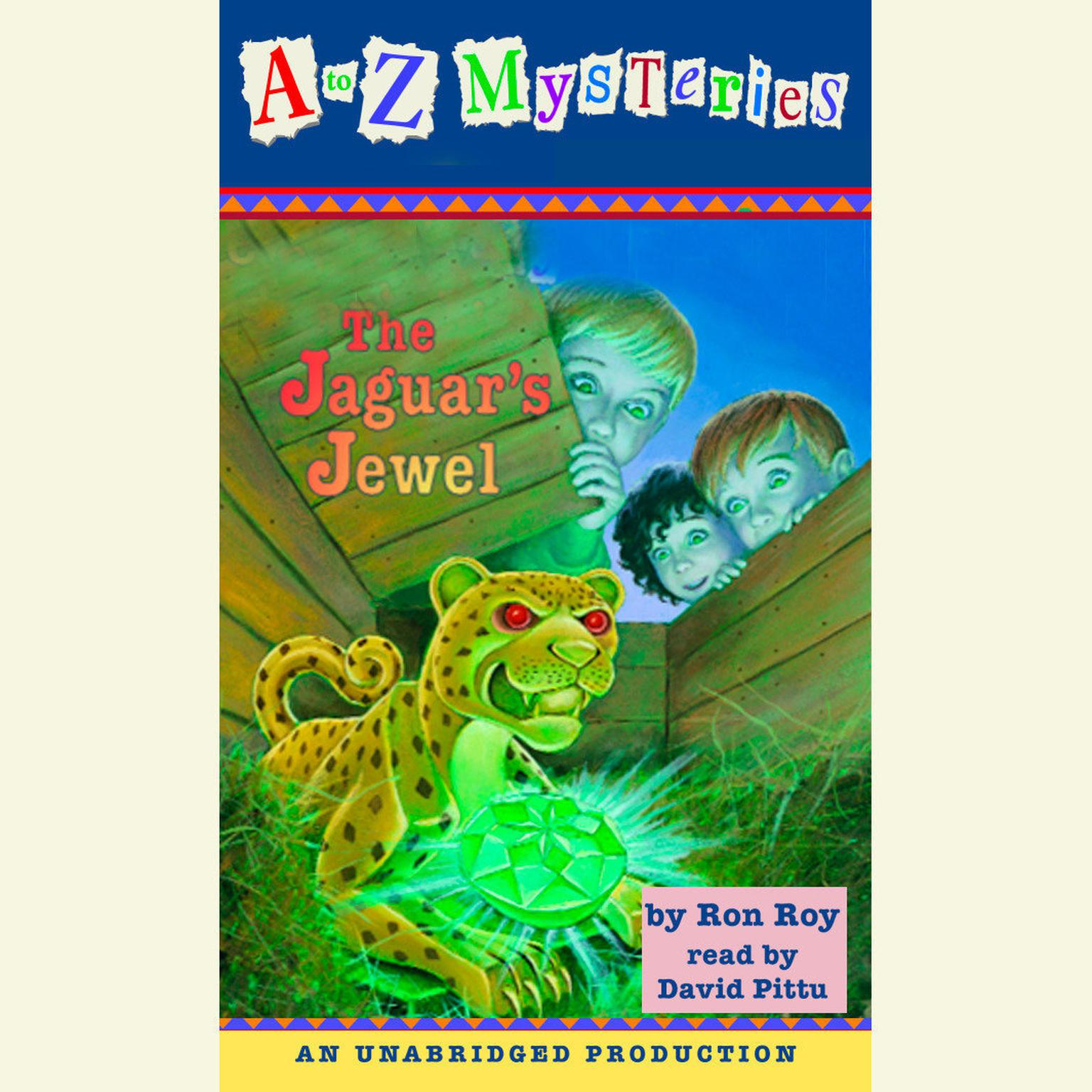 Printable A to Z Mysteries: The Jaguar's Jewel Audiobook Cover Art