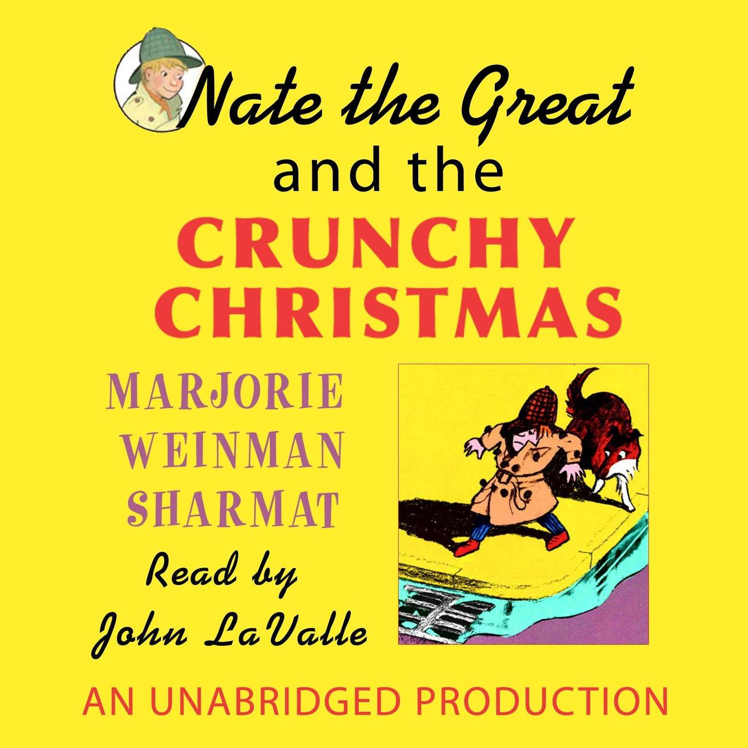Printable Nate the Great and the Crunchy Christmas Audiobook Cover Art